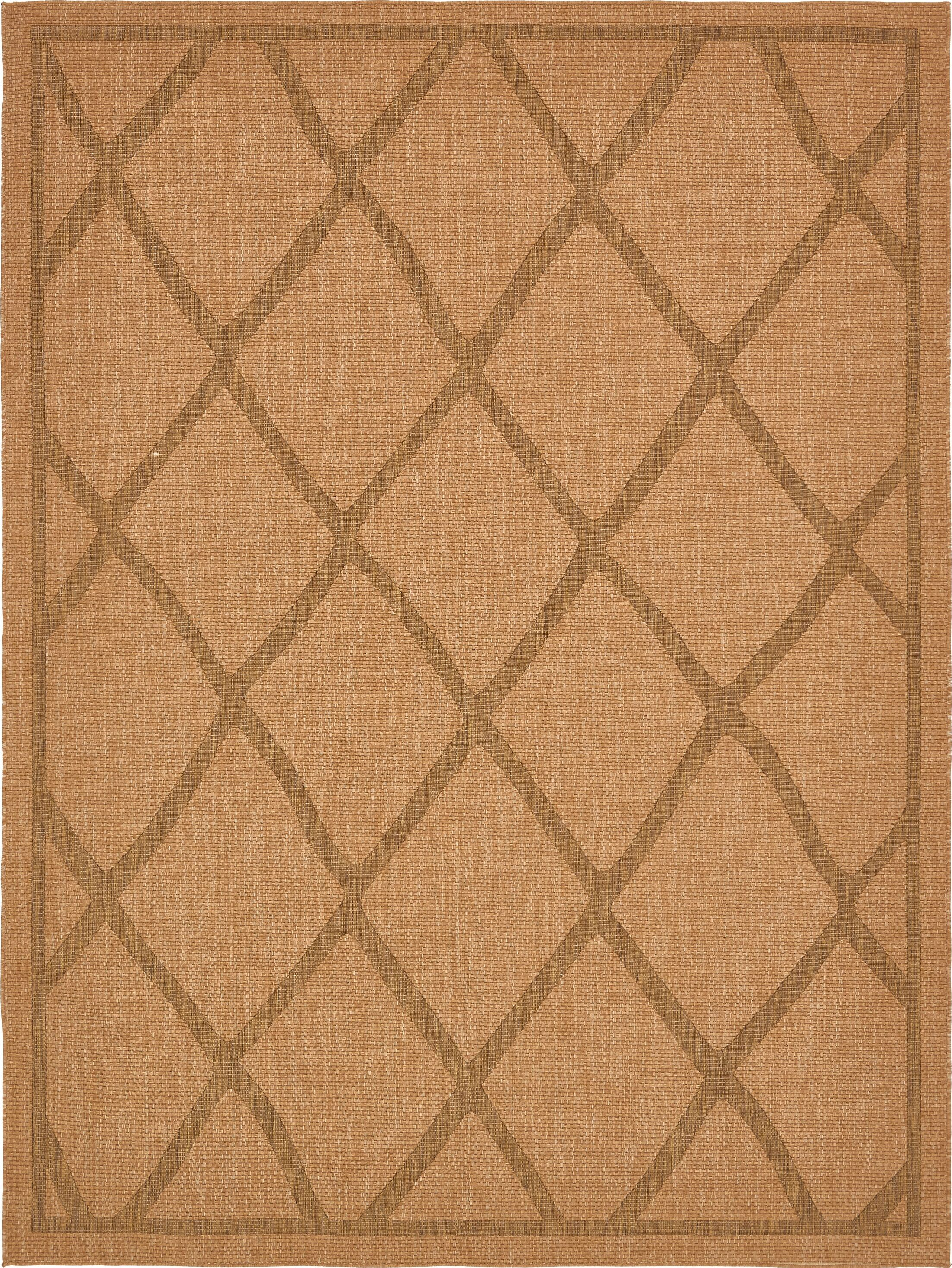 Kulick Light Brown Outdoor Area Rug Rug Size: Rectangle 9' x 12'