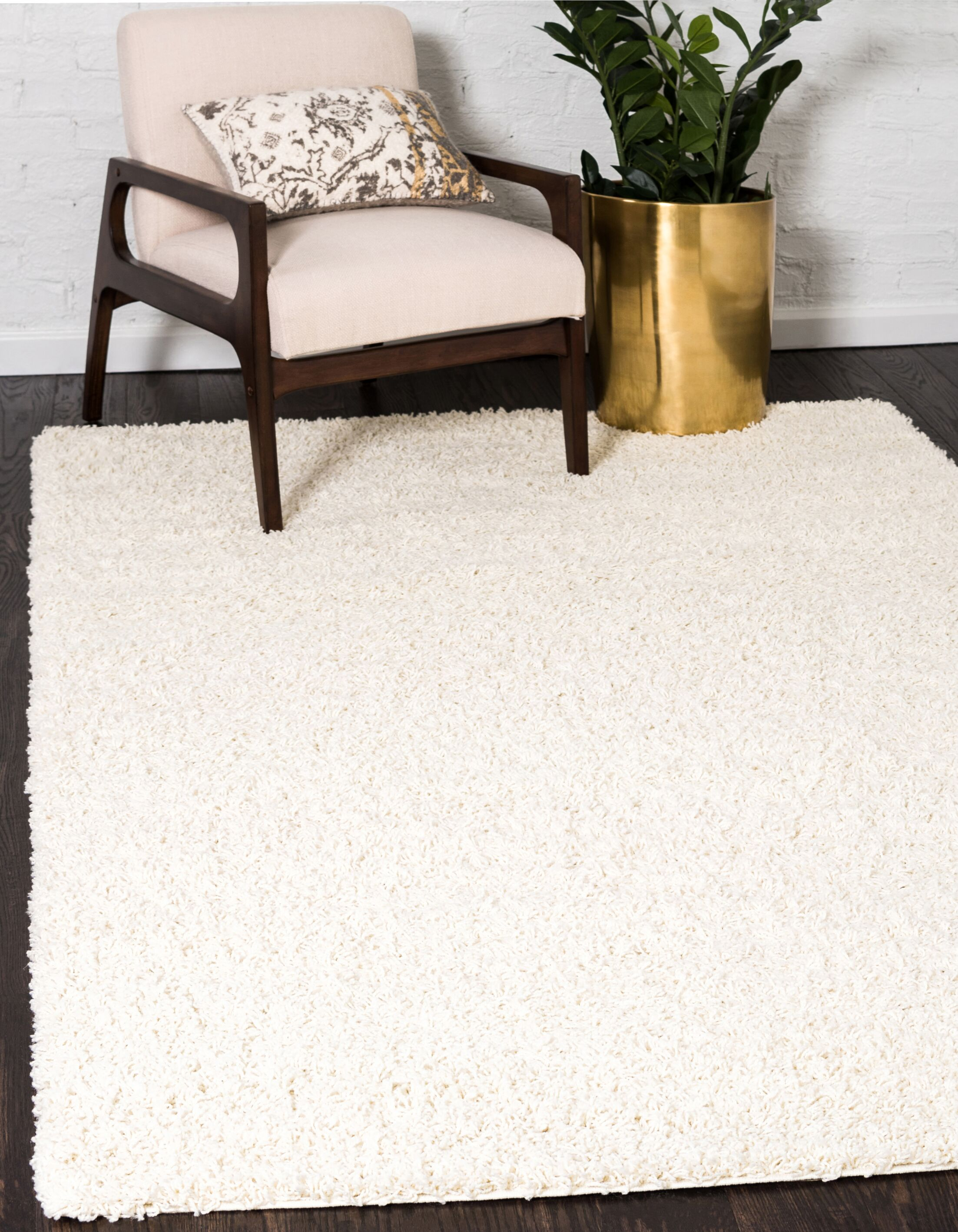 Lilah White Area Rug Rug Size: Round 8'2