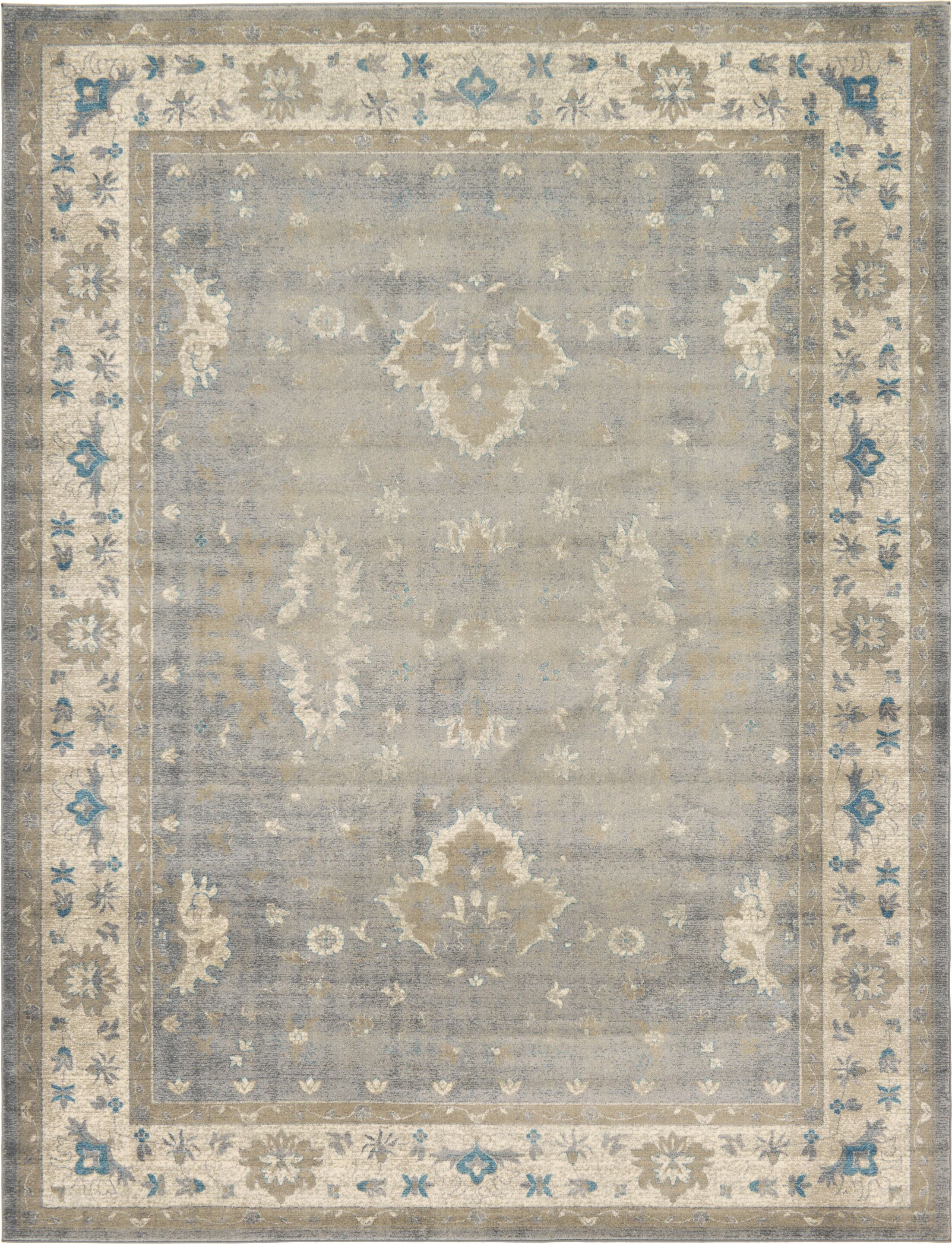 Jaiden Gray Area Rug Rug Size: Rectangle 9' x 12'