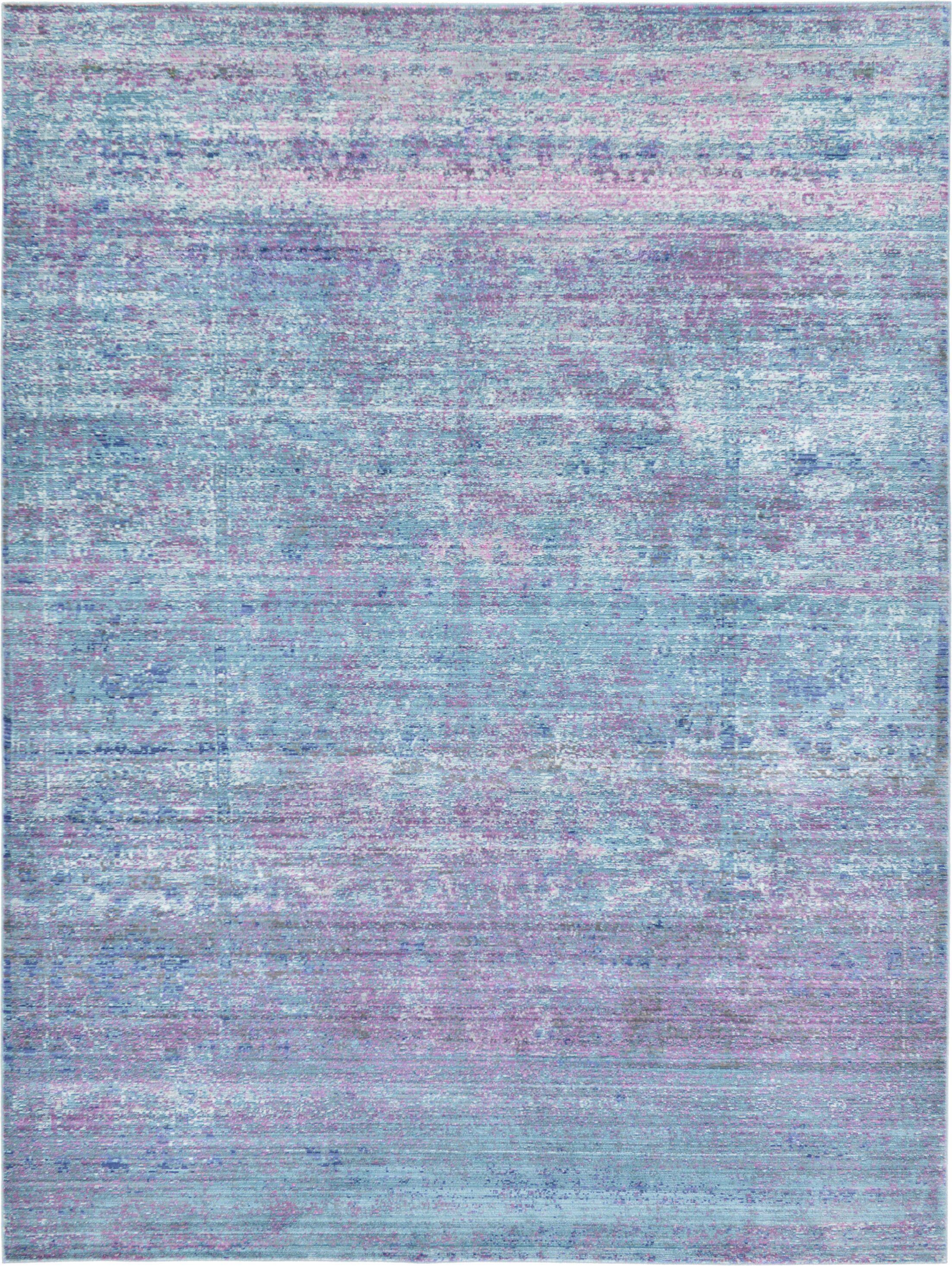 Brixton Green/Purple Area Rug Rug Size: Rectangle 7' x 10'