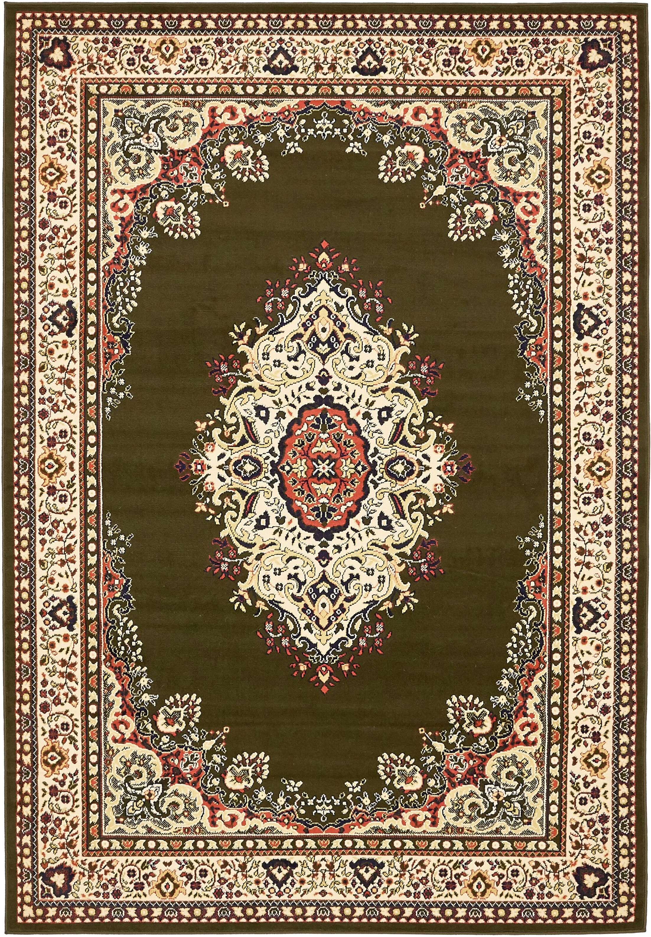 Britain Green Area Rug Rug Size: Rectangle 6' x 9'
