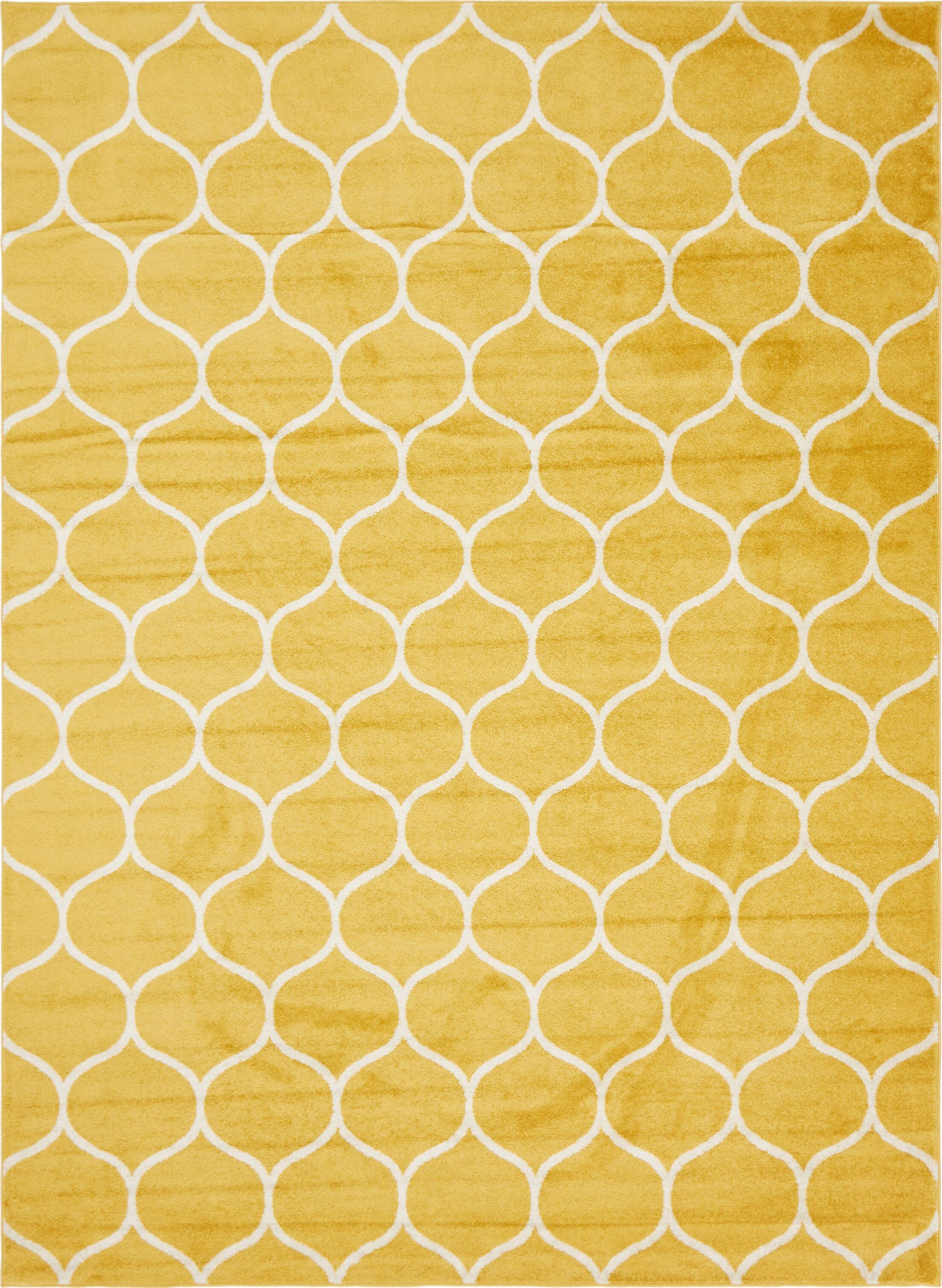 Easter Compton Trellis Yellow Area Rug Rug Size: Rectangle 9' x 12'