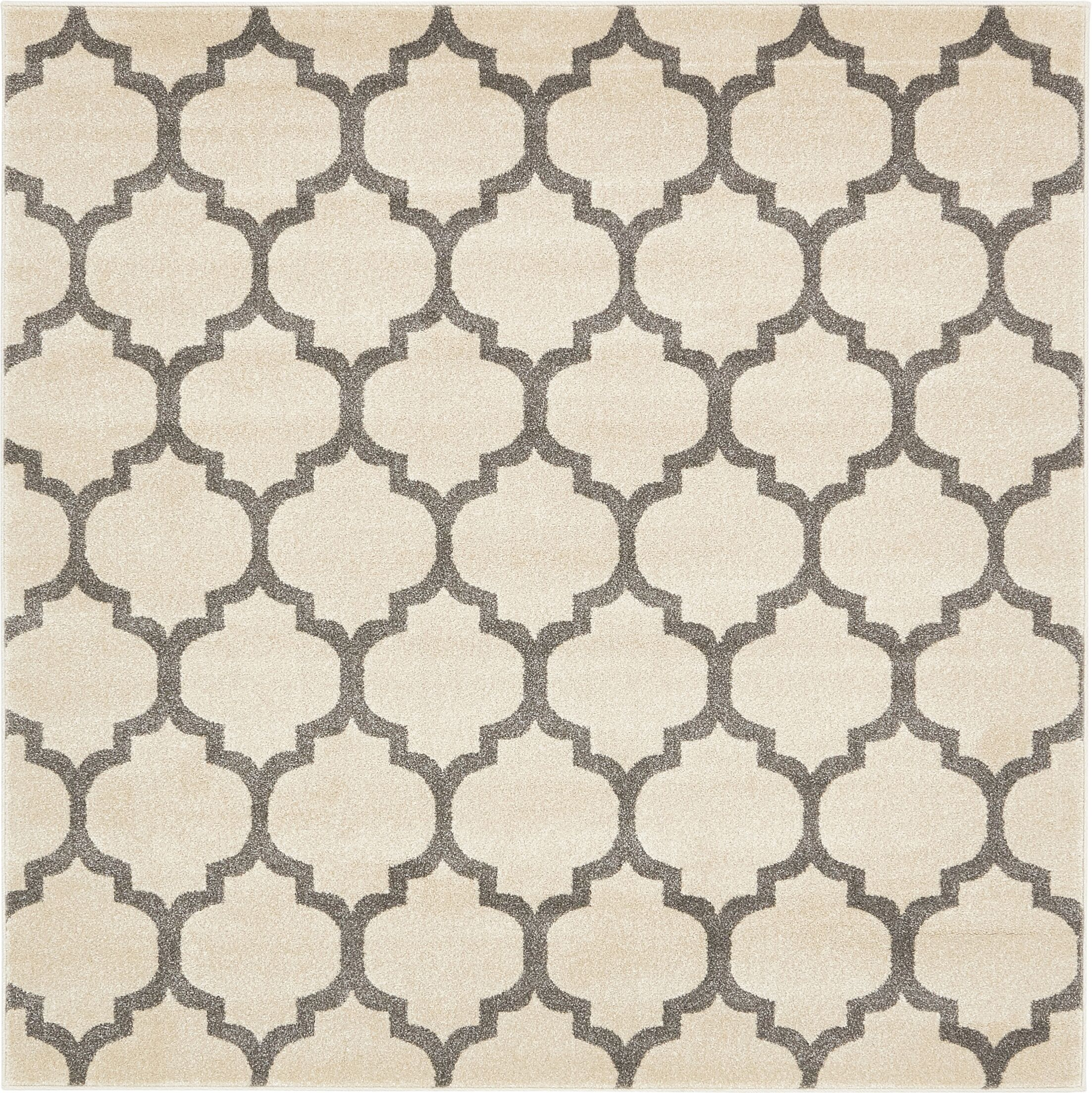 Moore Beige Area Rug Rug Size: Square 6'