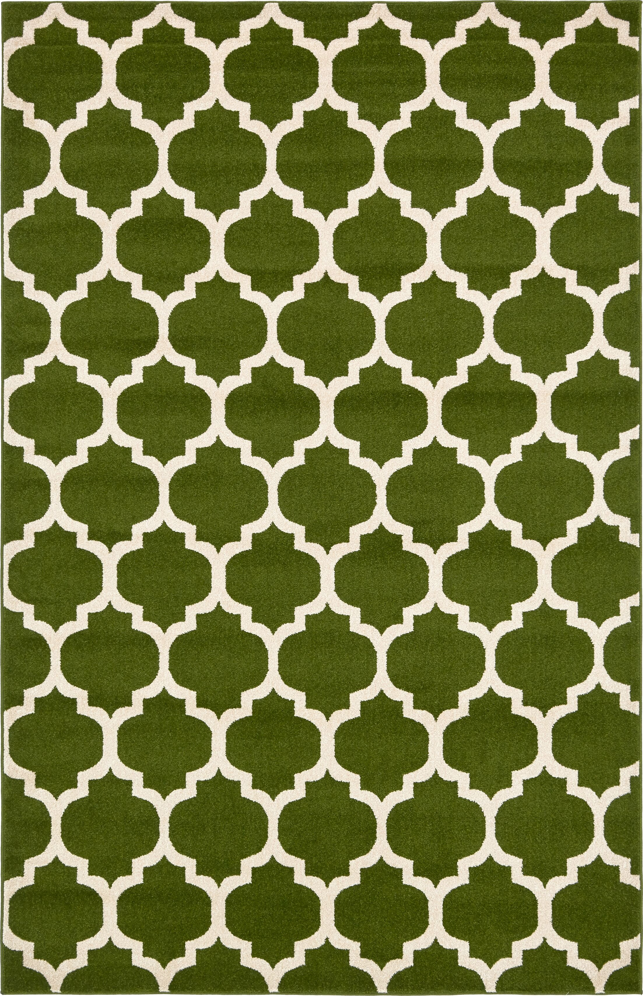 Moore Green/Beige Area Rug Rug Size: Rectangle 6' x 9'