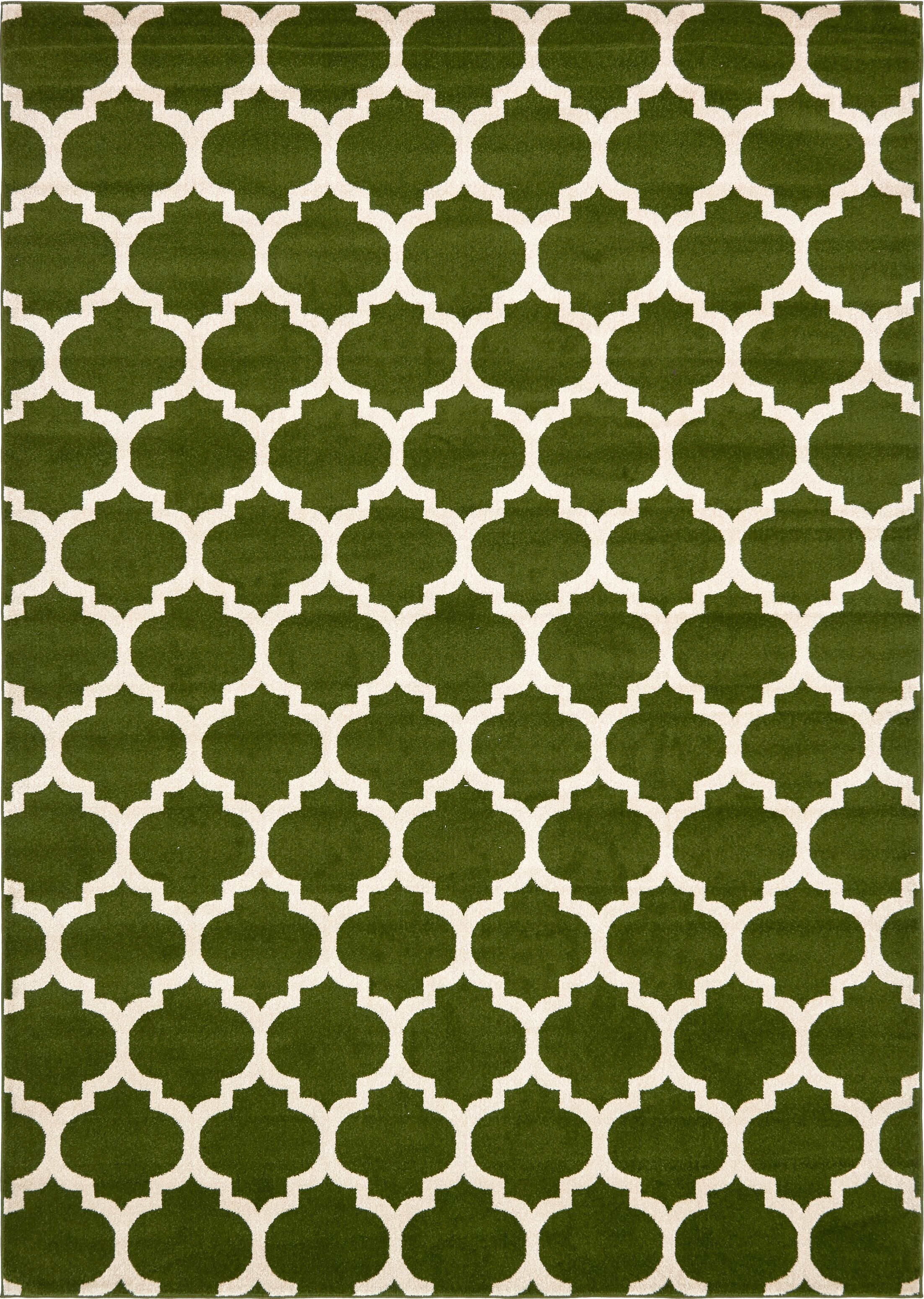 Moore Green/Beige Area Rug Rug Size: Rectangle 8' x 11'