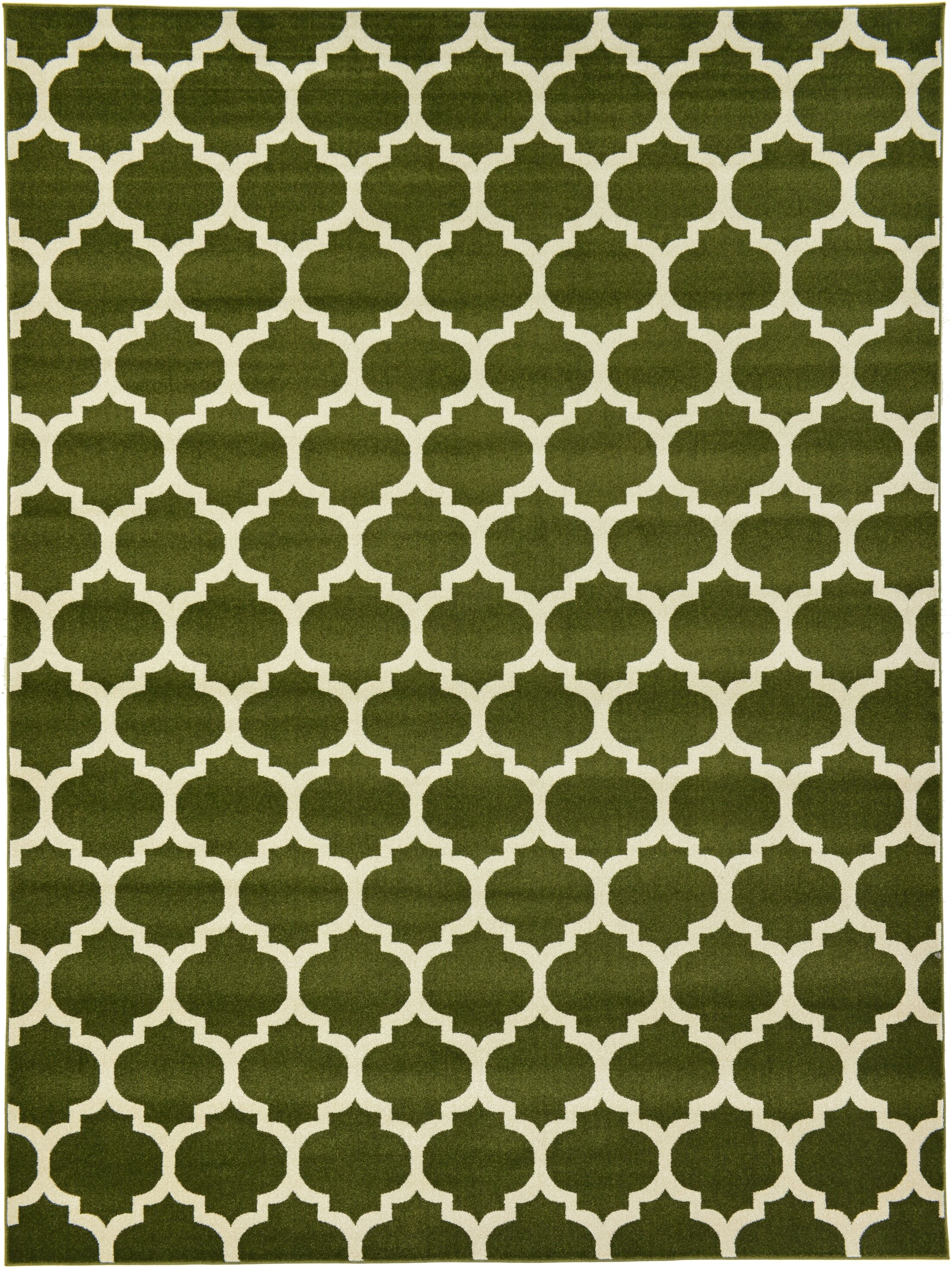 Moore Green/Beige Area Rug Rug Size: Rectangle 9' x 12'
