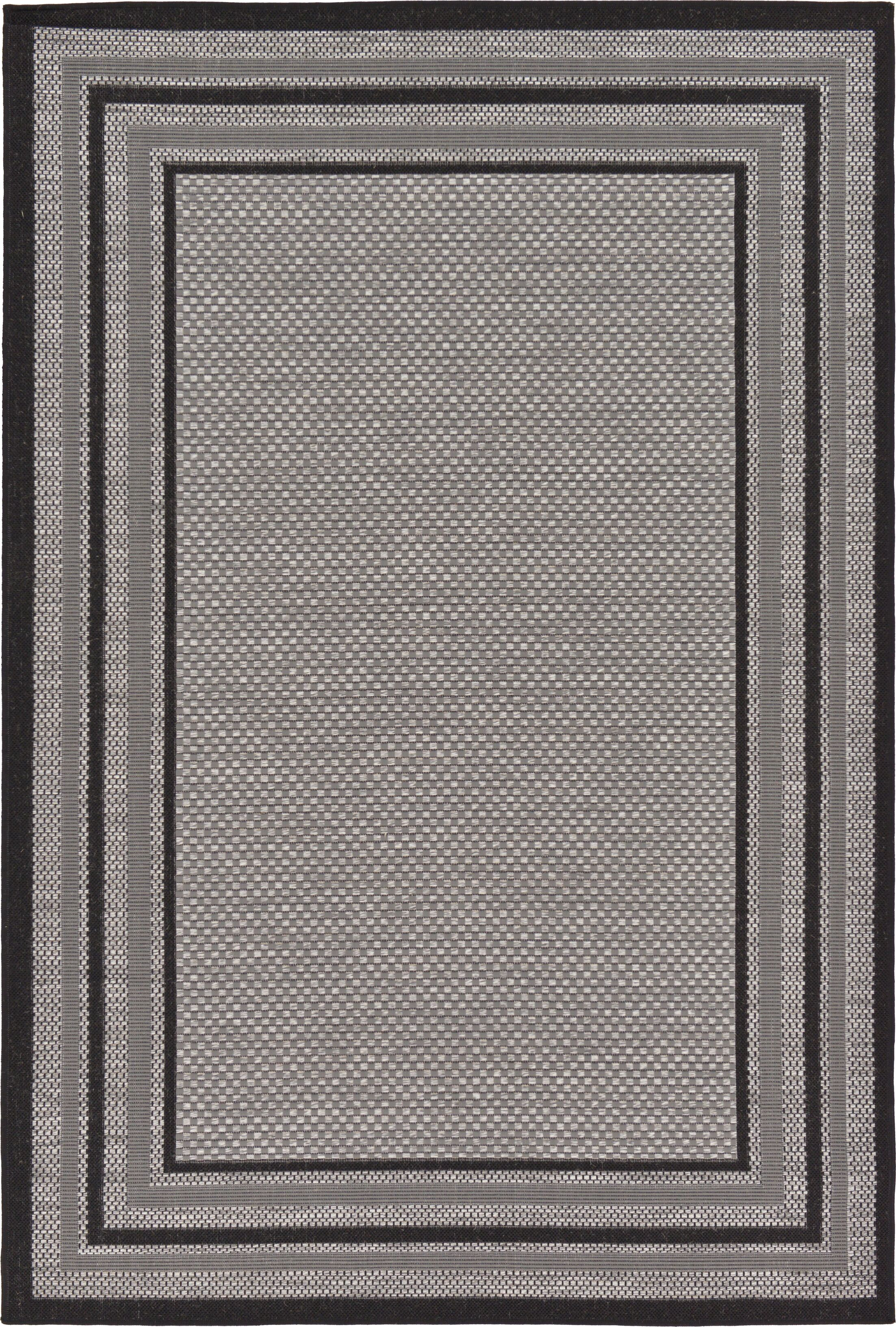 Sneller Gray Outdoor Area Rug Rug Size: Rectangle 5' x 8'