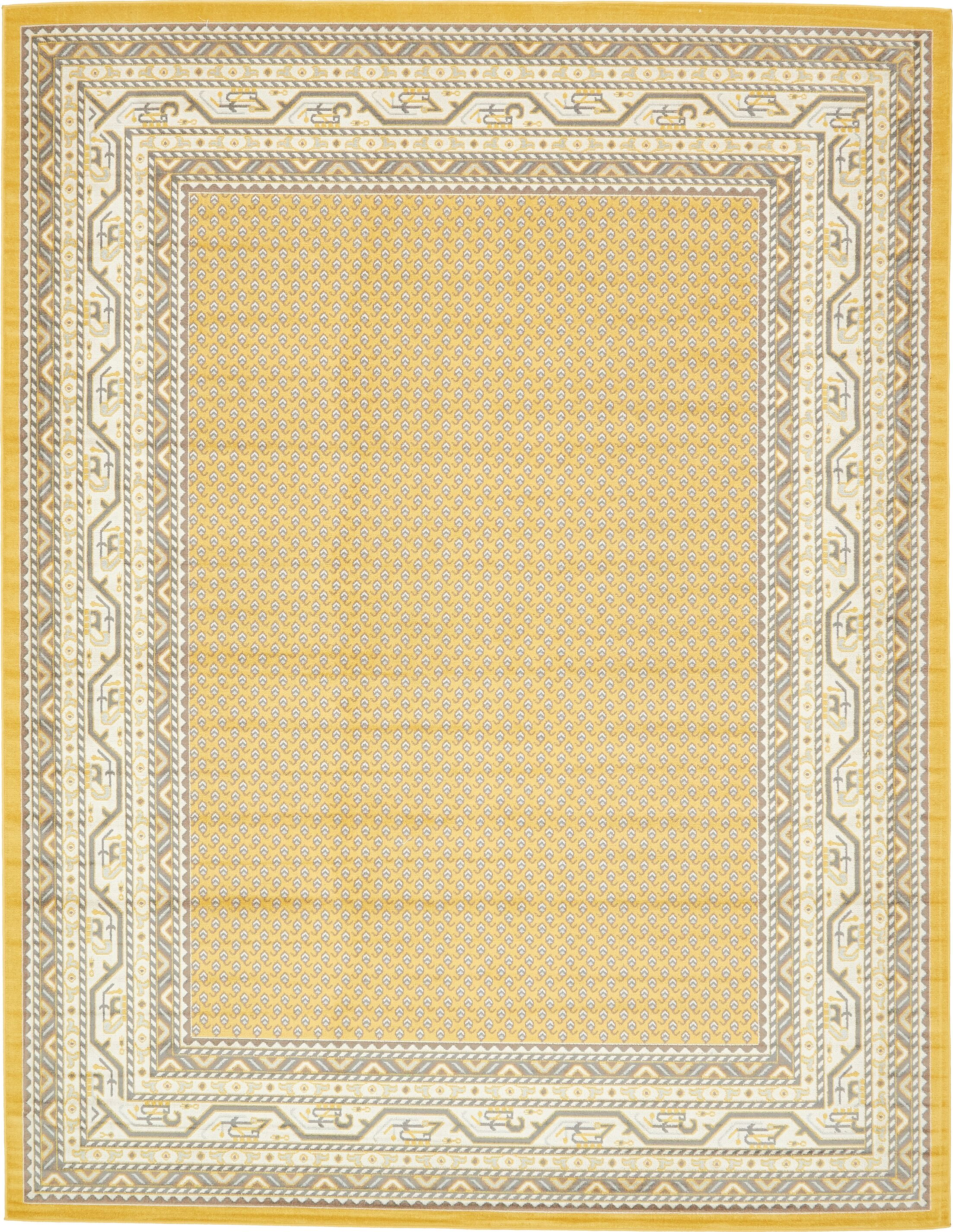 Gillam Yellow Area Rug Rug Size: Rectangle 10' x 13'