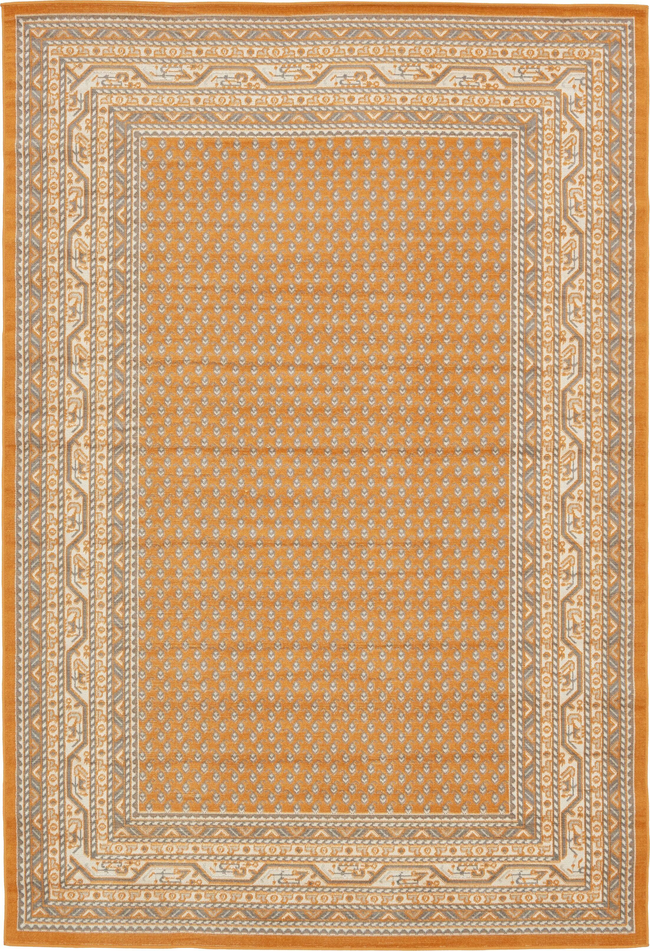 Gillam Orange Area Rug Rug Size: Rectangle 6' x 9'