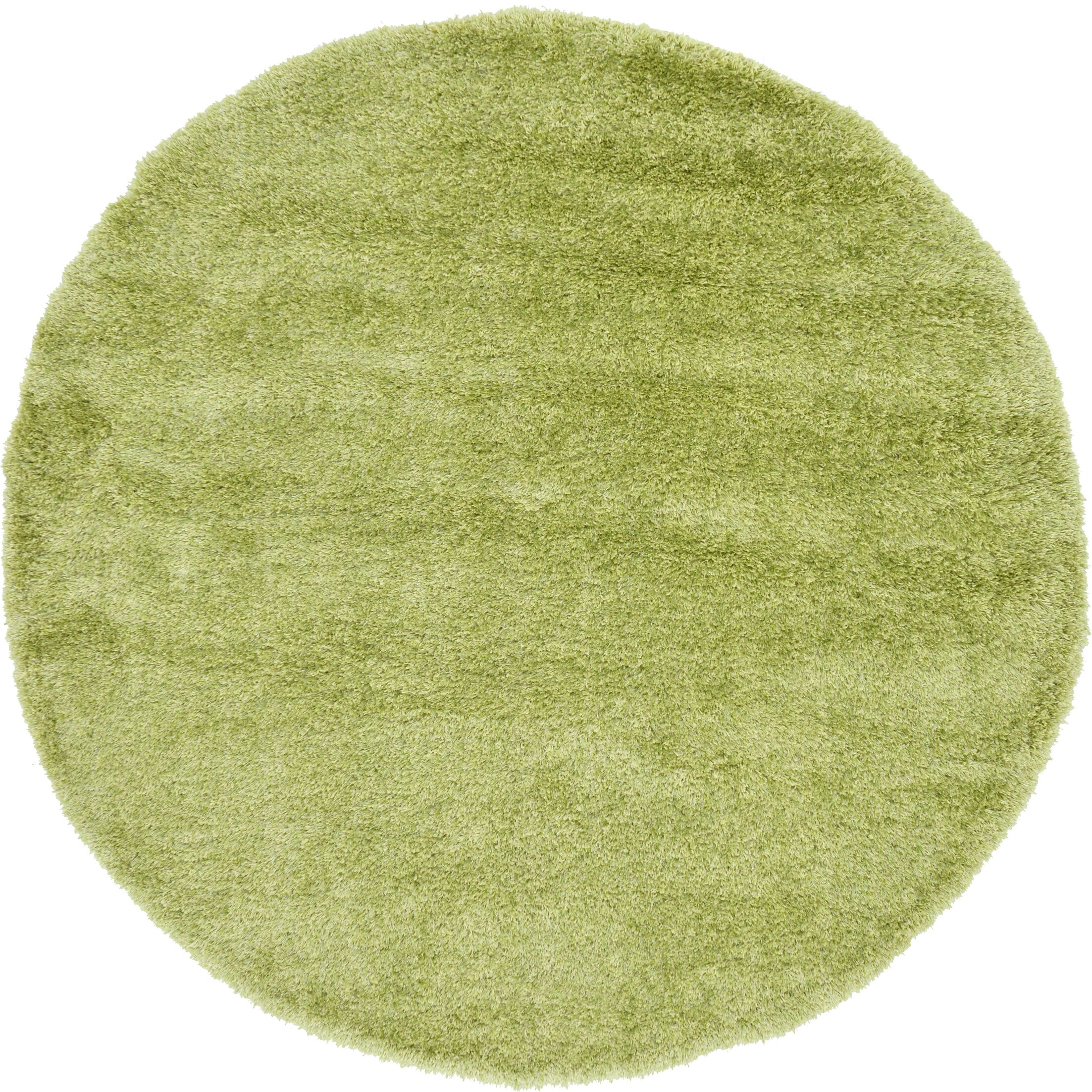 Evelyn Cedar Green Area Rug Rug Size: Round 6'