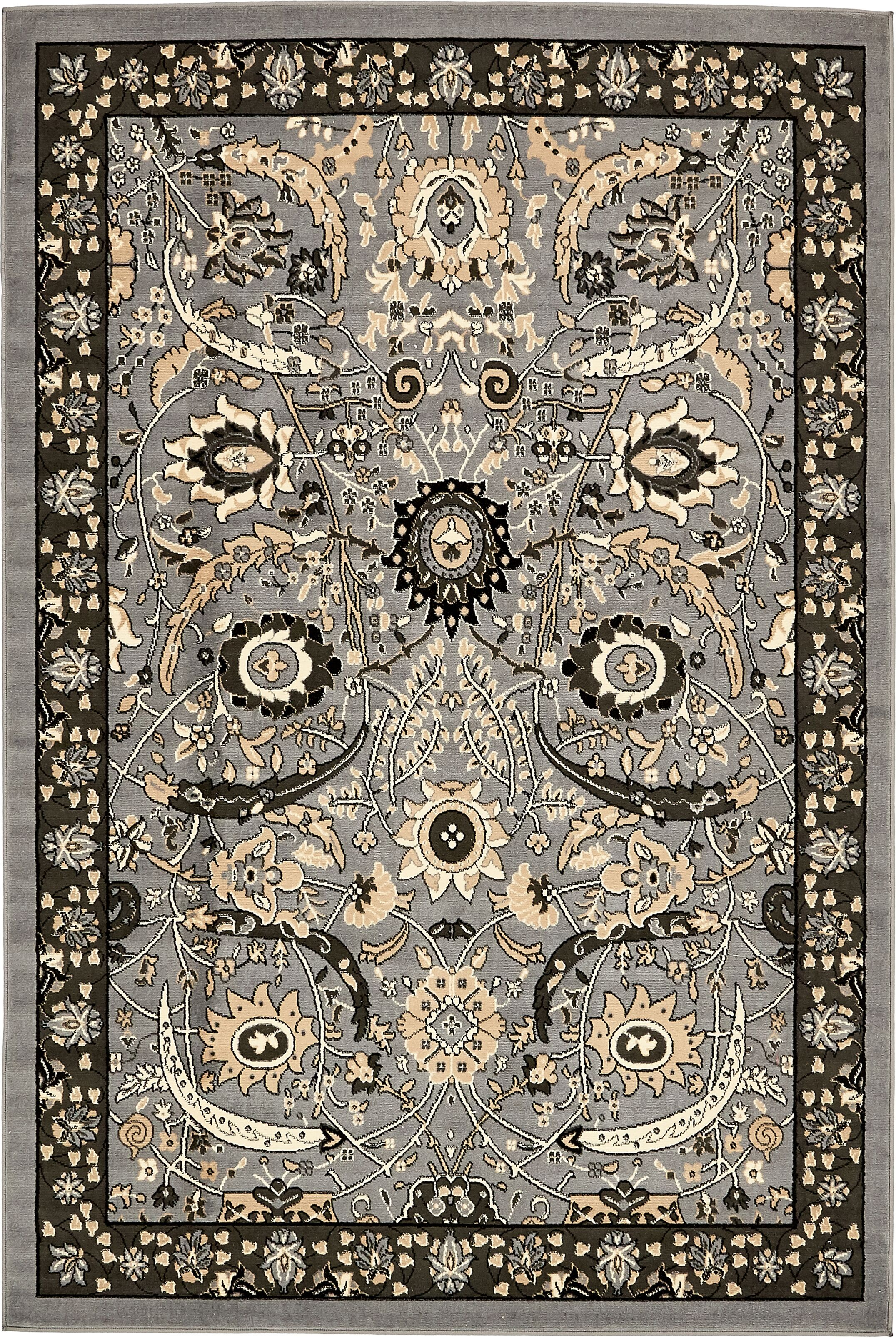 Britannia Dark Gray Area Rug Rug Size: Rectangle 6' x 9'