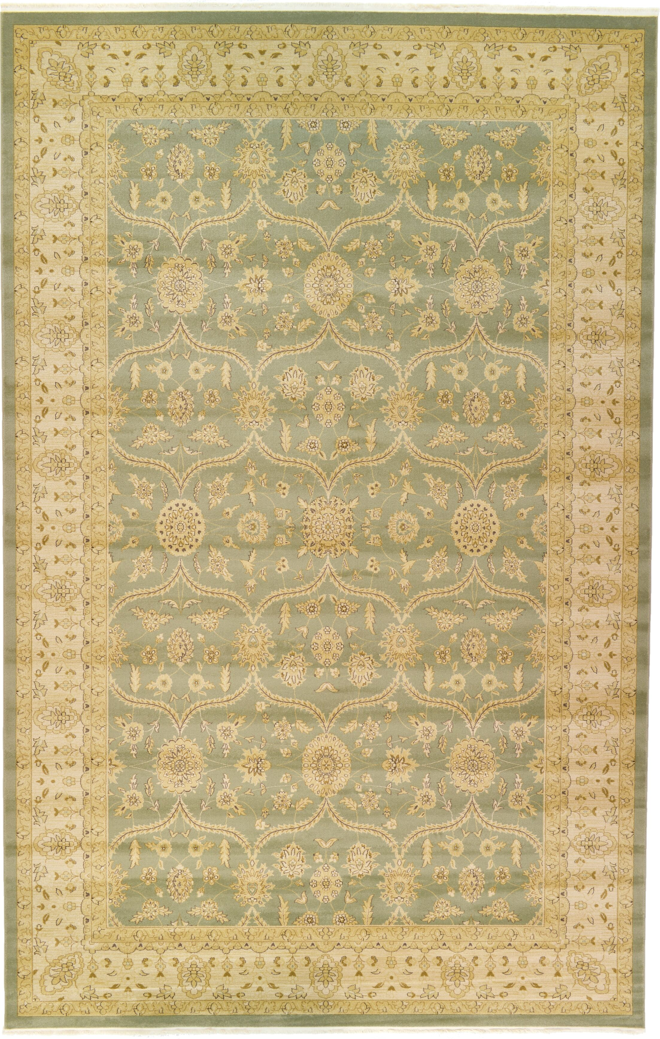 Fonciere Light Green Area Rug Rug Size: Rectangle 10'6