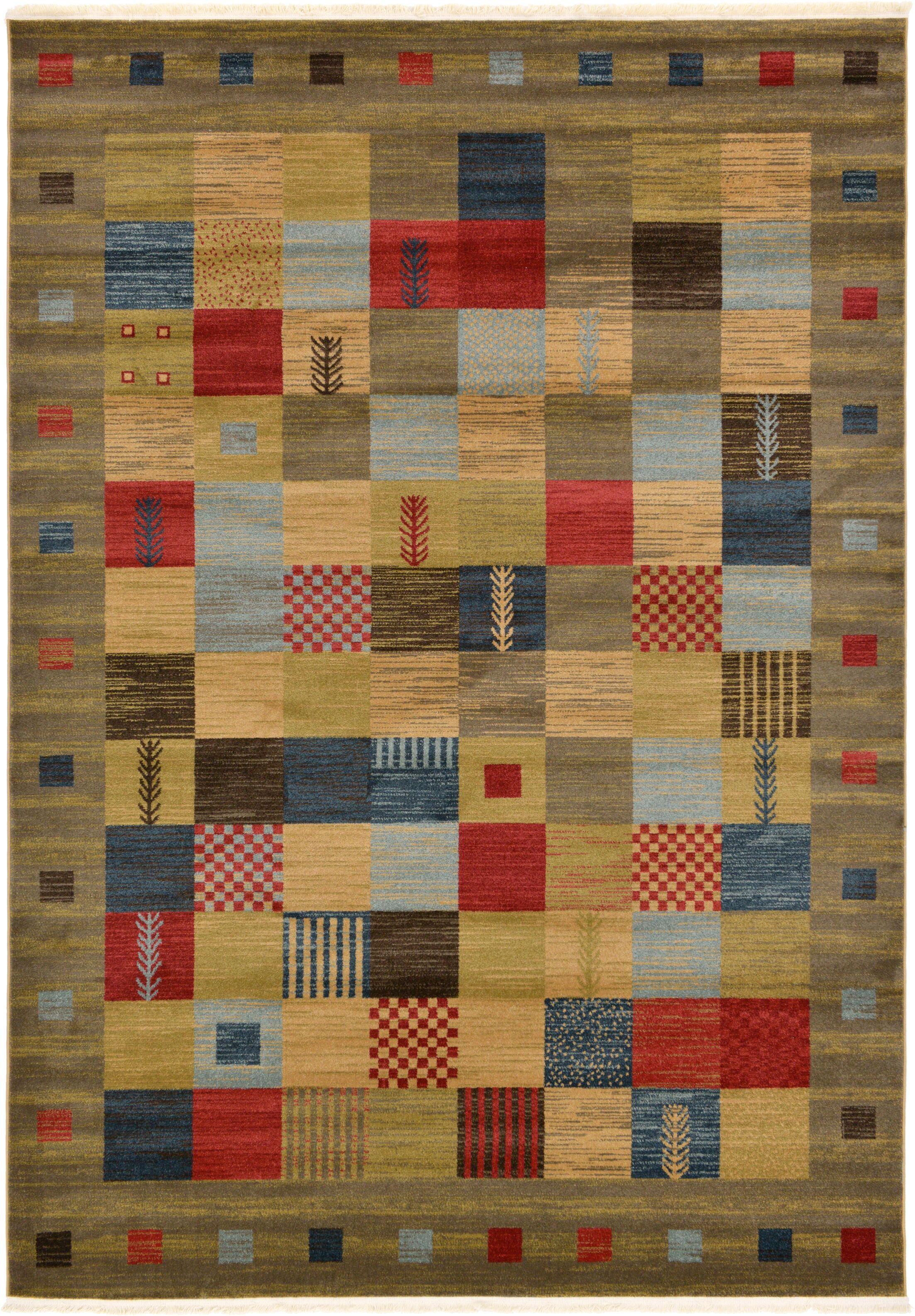 Jan Light Brown Geometric Area Rug Rug Size: Rectangle 7' x 10'