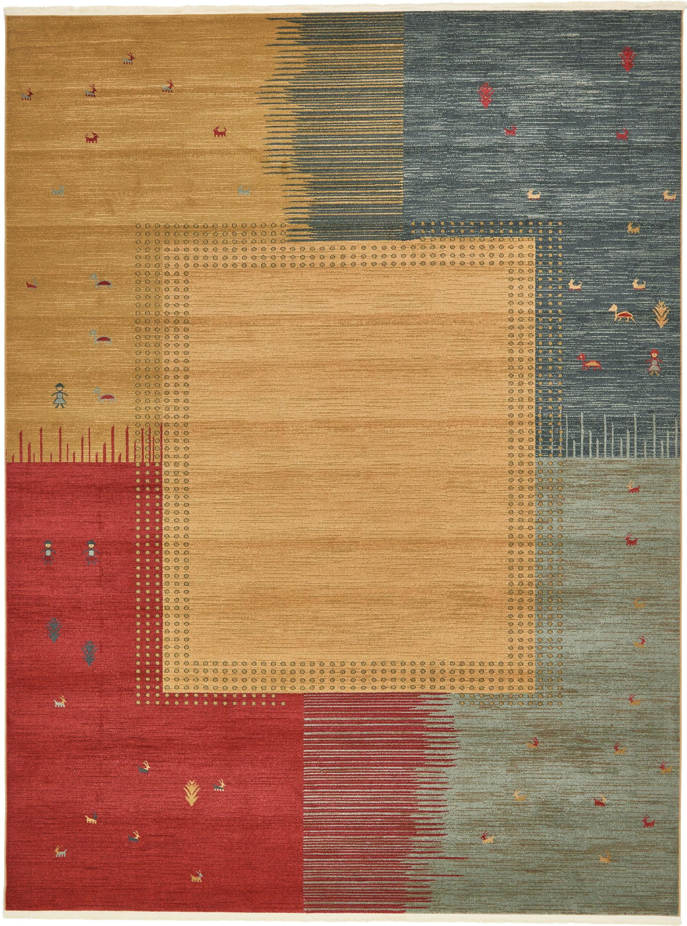 Jan Tan Indoor/Outdoor Area Rug Rug Size: Rectangle 10' x 13'