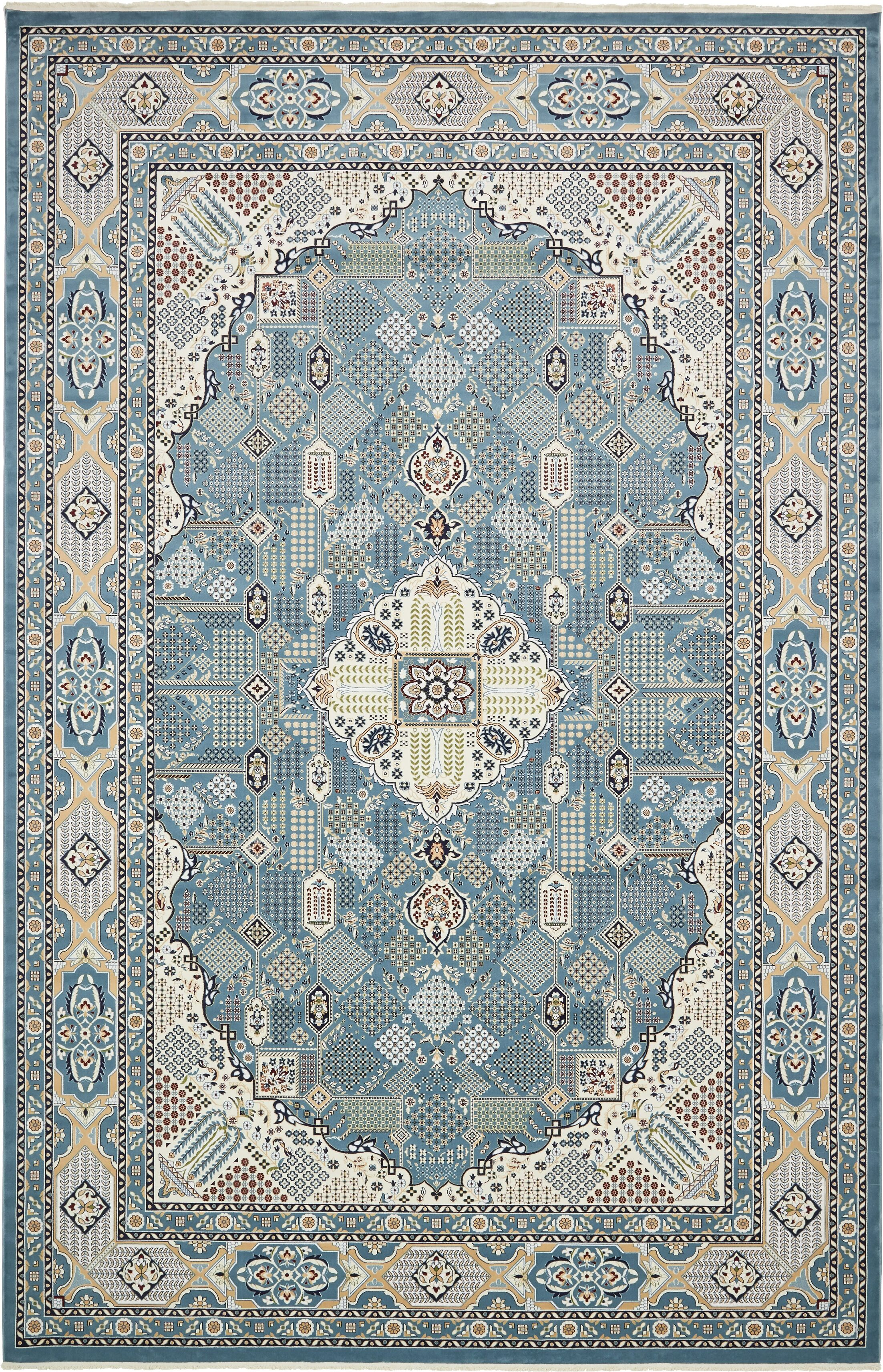 Jackson Blue Area Rug Rug Size: Rectangle 13' x 19'8