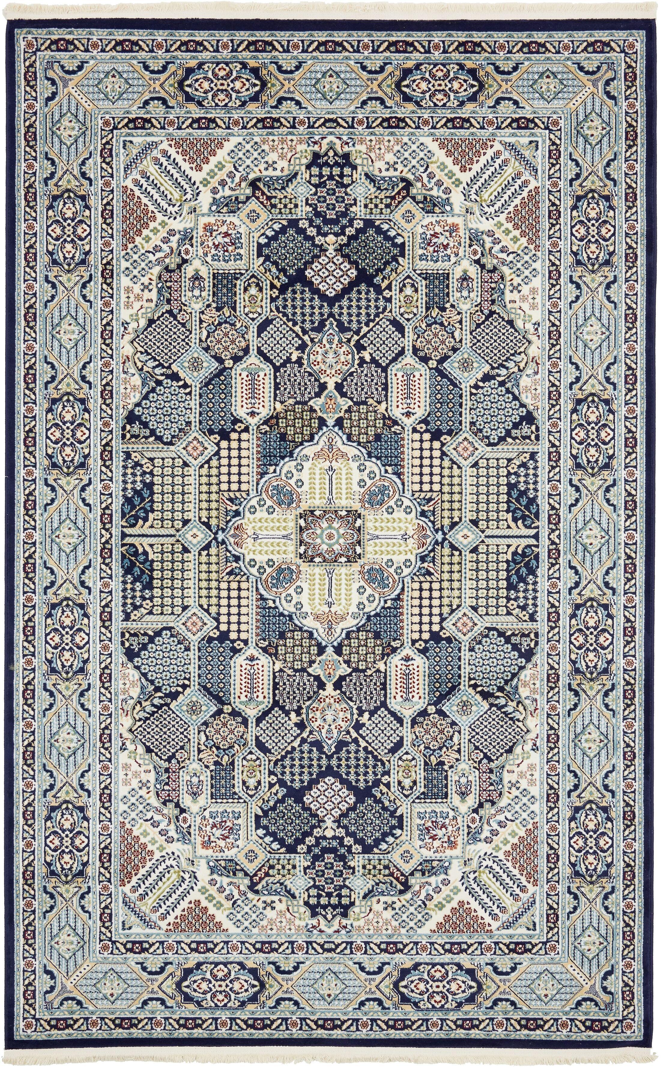 Jackson Navy Blue Area Rug Rug Size: Rectangle 5' x 8'