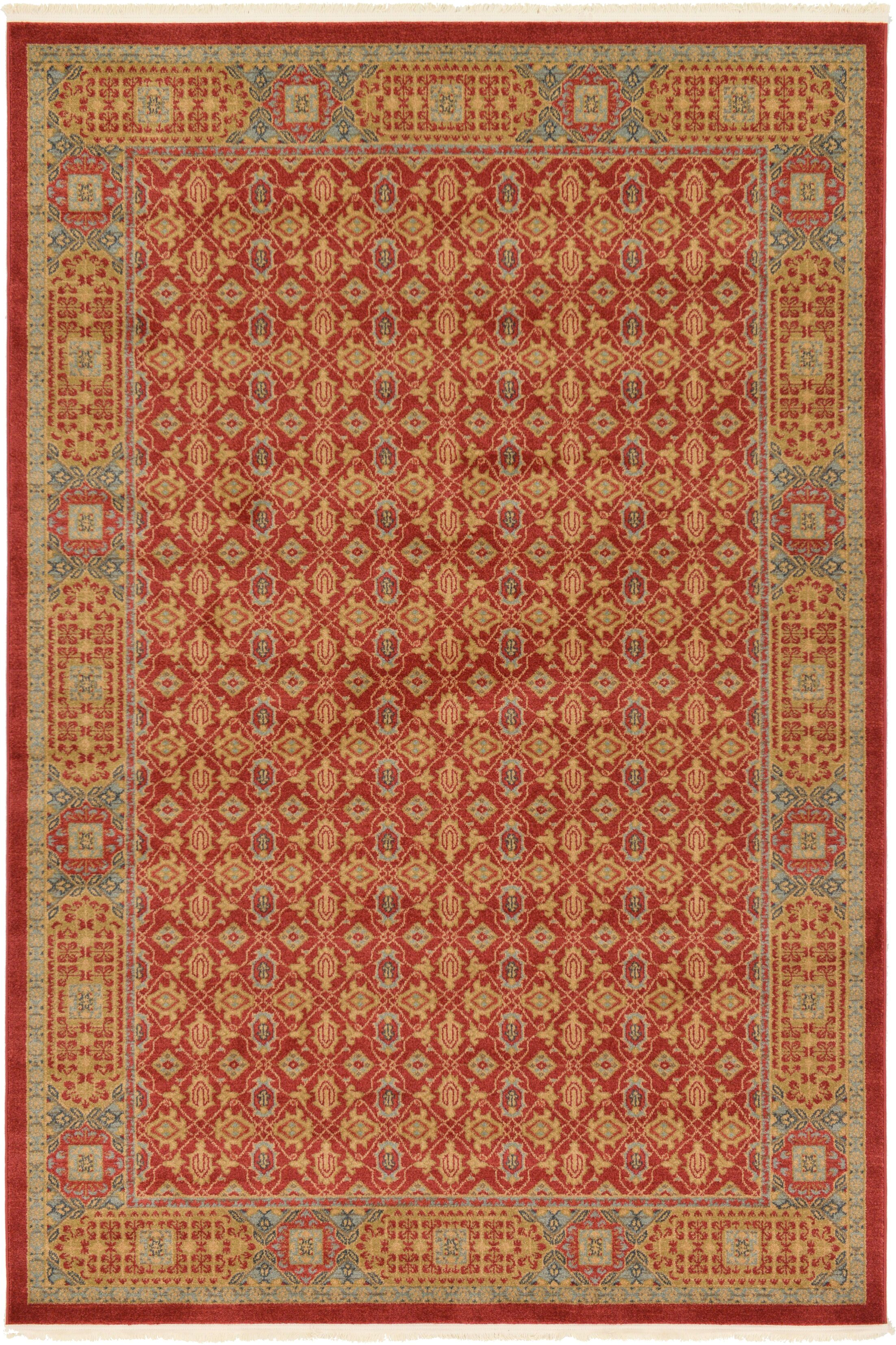 Laurelwood Red Area Rug Rug Size: Rectangle 6' x 9'
