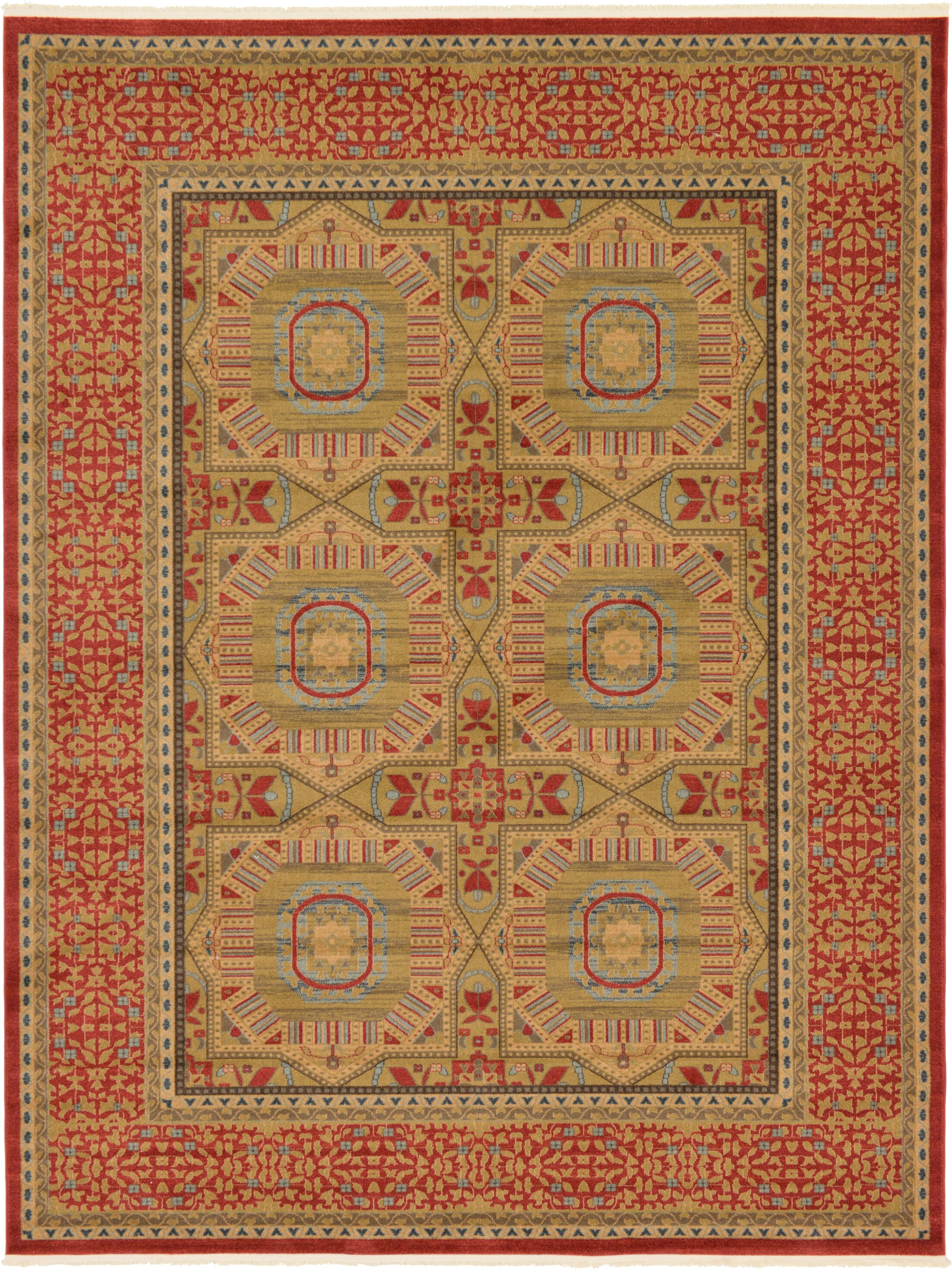 Laurelwood Red Area Rug Rug Size: Rectangle 9' x 12'