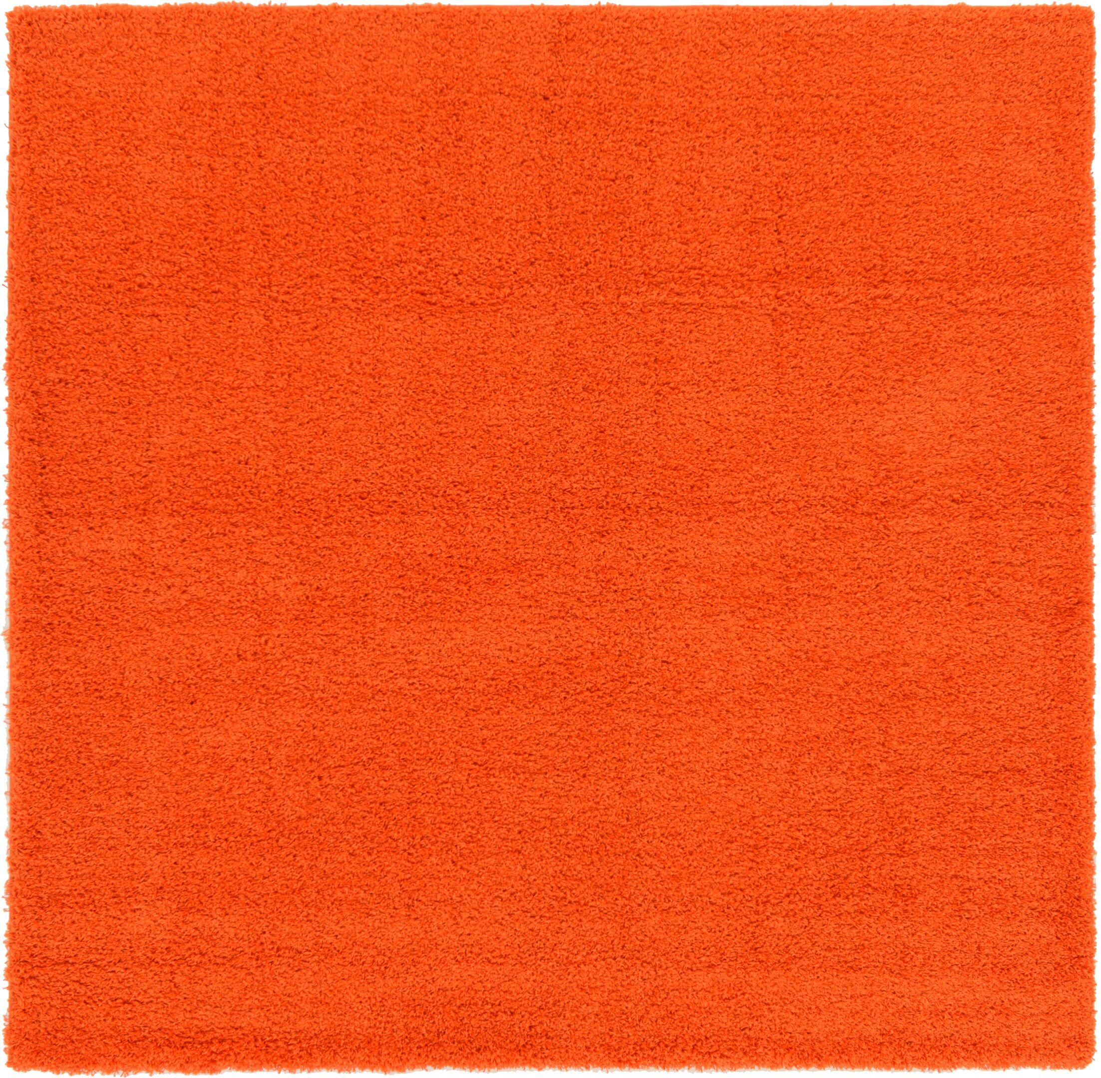 Madison Orange Area Rug Rug Size: Square 8'2
