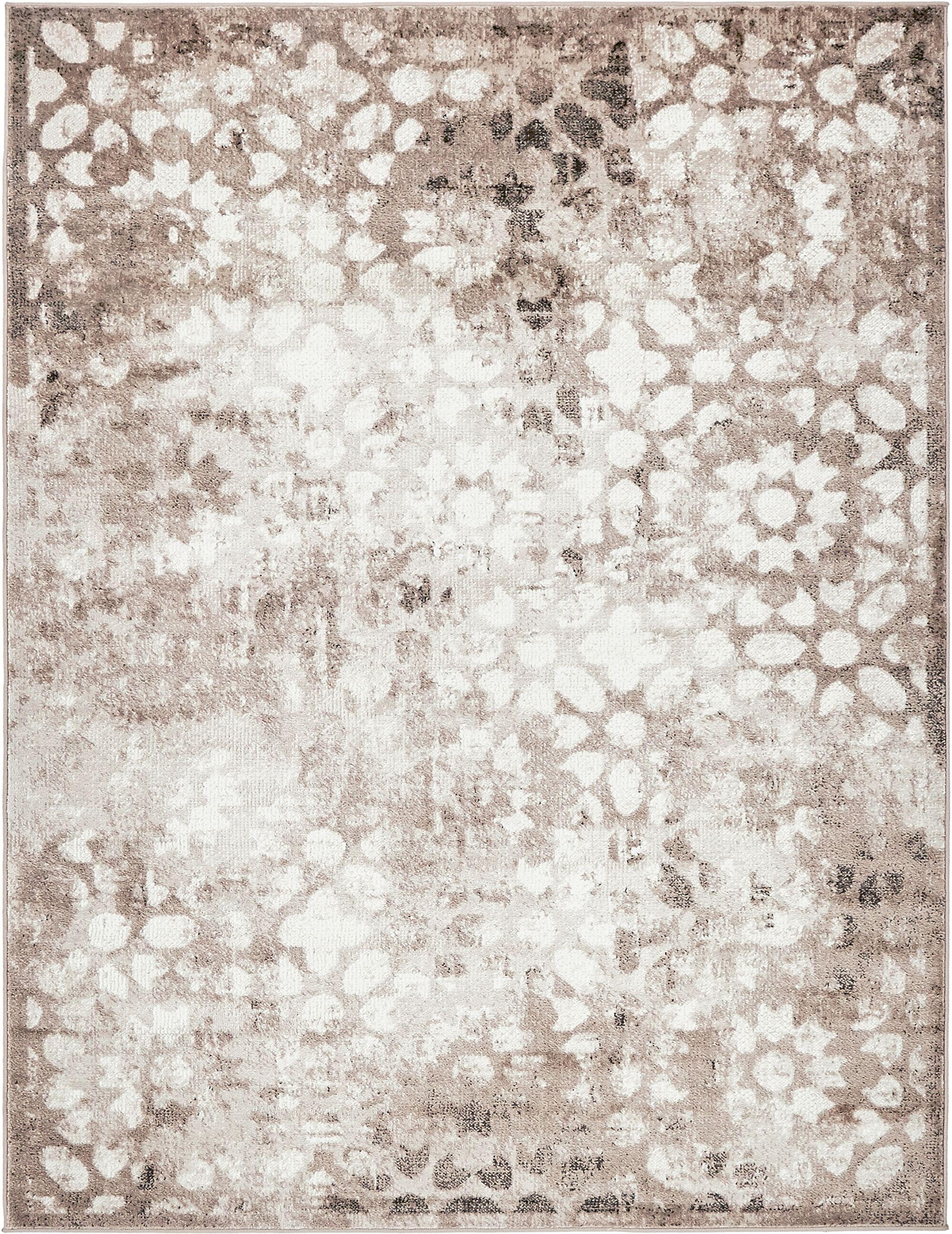 Brandt Brown/Cream Area Rug Rug Size: Rectangle 9' x 12'