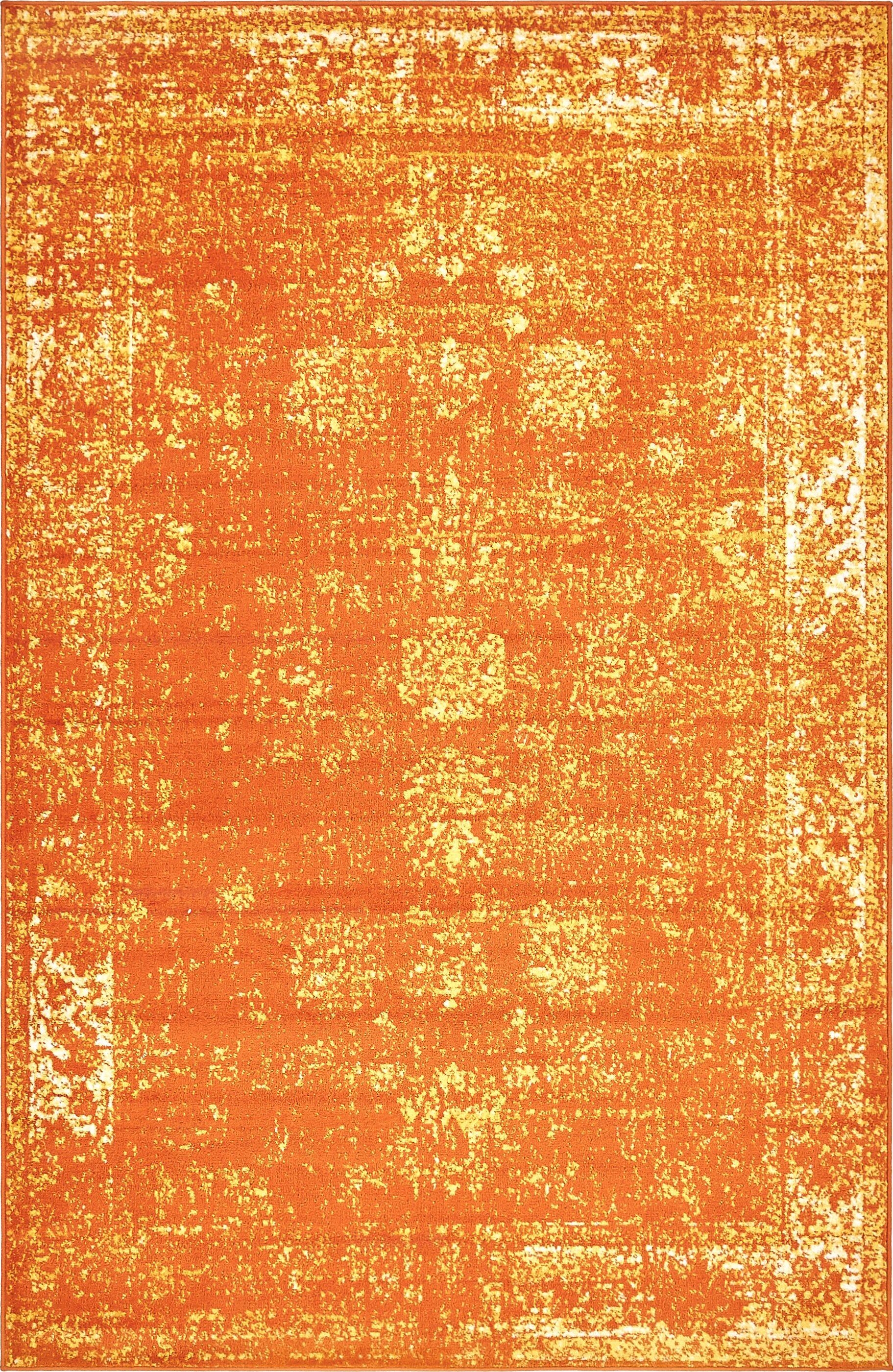 Brandt Orange Area Rug Rug Size: Rectangle 5' x 8'