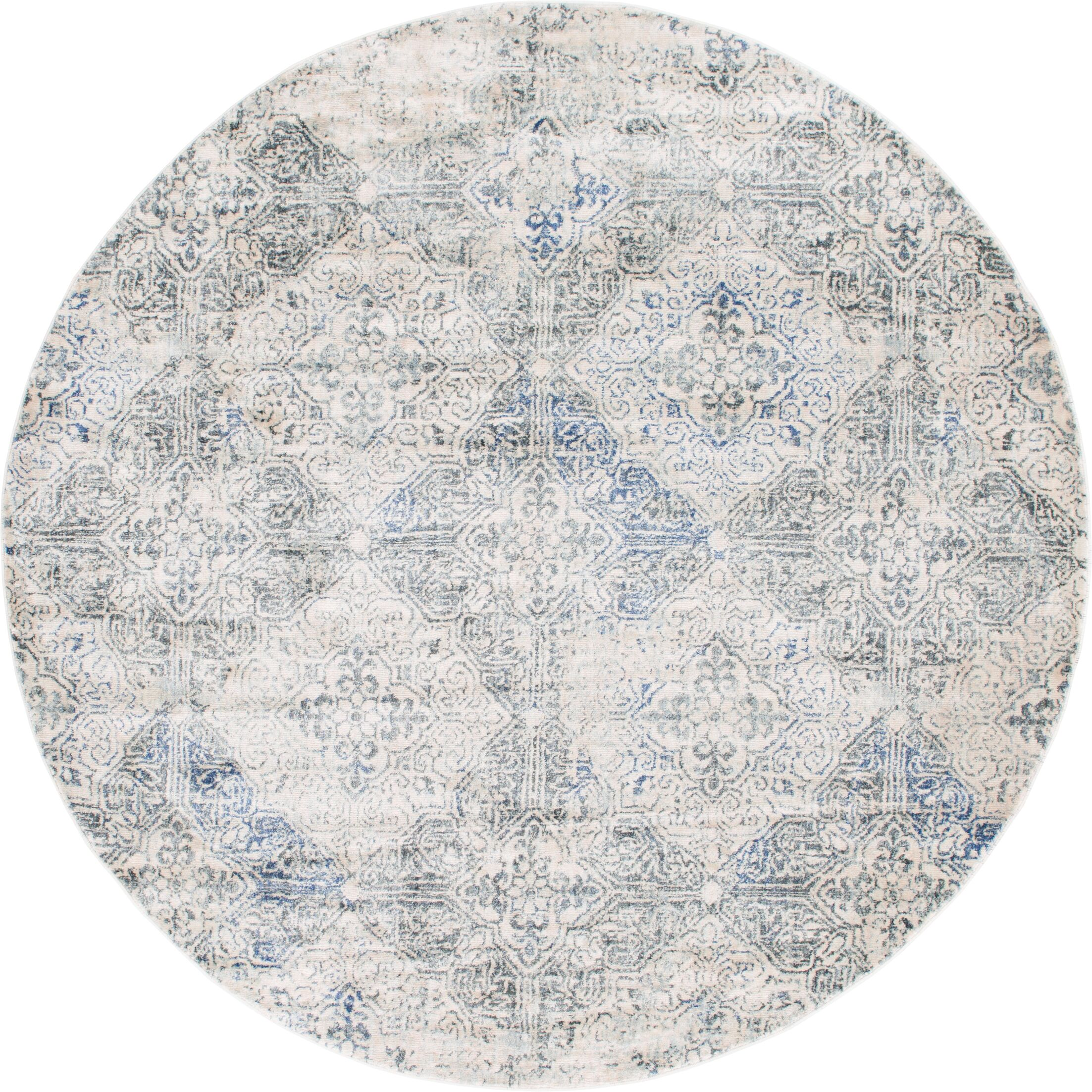 Parodi Gray Area Rug Rug Size: Round 8'