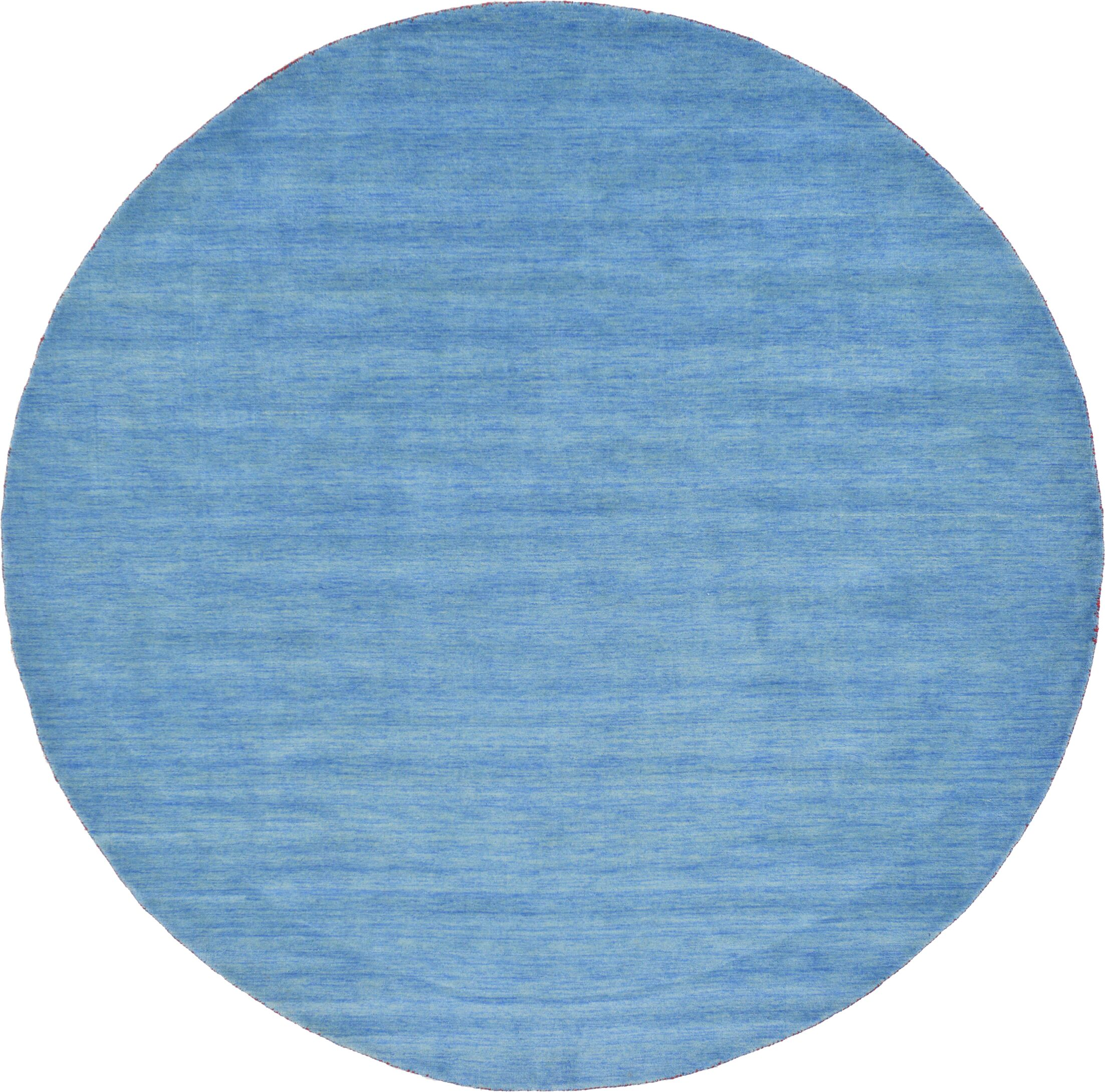 Langham Hand-Knotted Light Blue Area Rug Rug Size: Round 9' 10