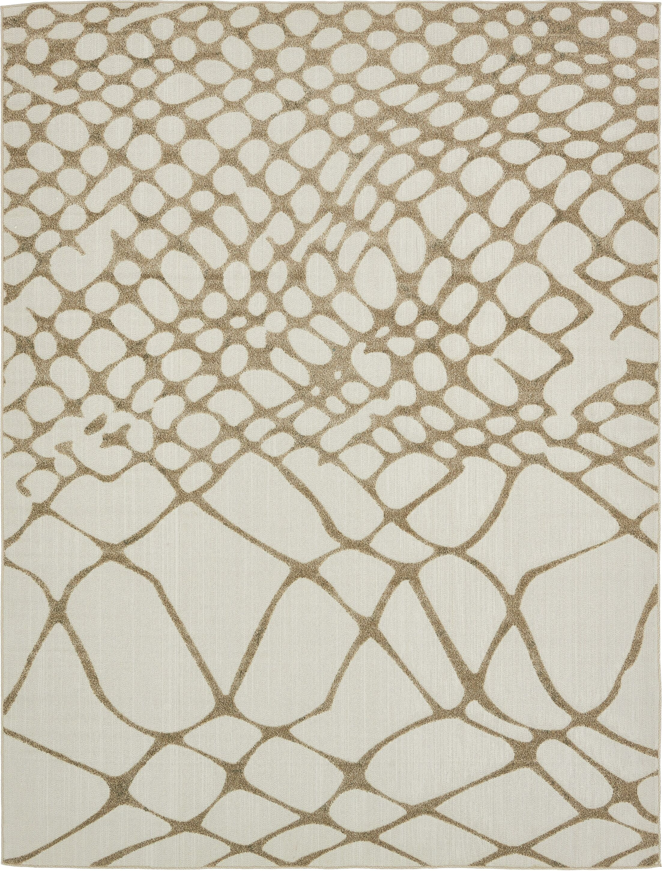 Jessie Cream Indoor/Outdoor Area Rug Rug Size: Rectangle 9' x 12'