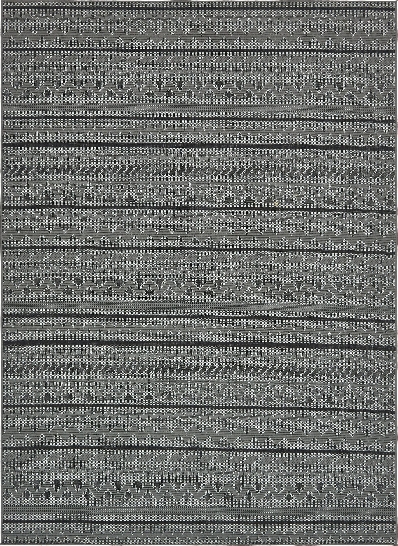 Lulu Yellow Pine Gray Outdoor Area Rug Rug Size: Rectangle 8' x 11'4