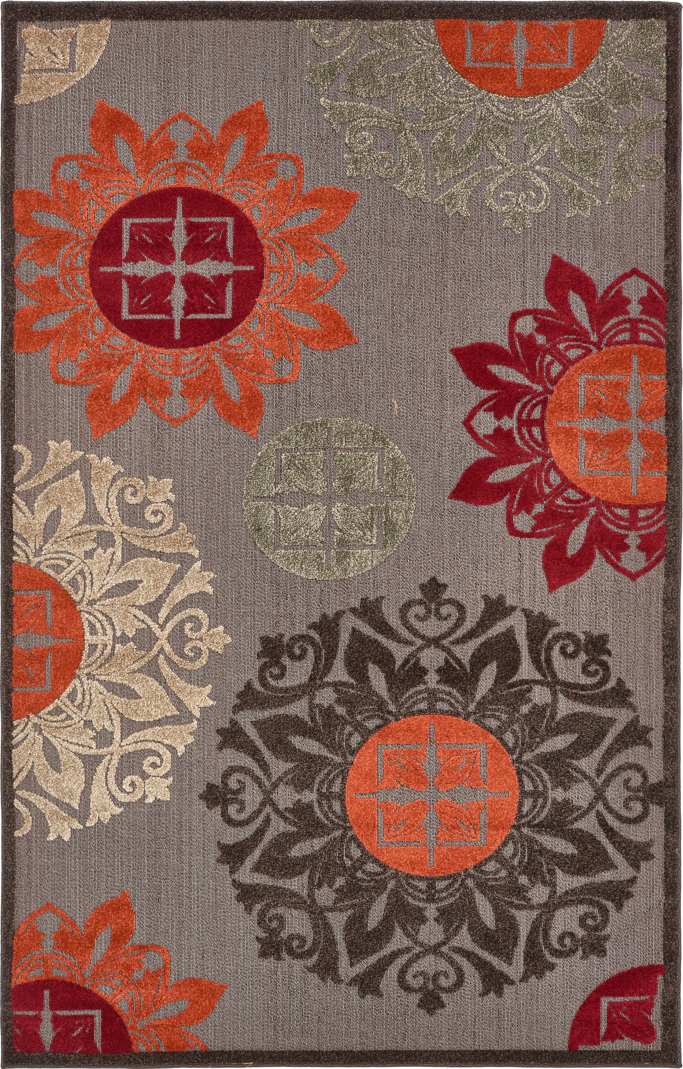 Jessica Brown Indoor/Outdoor Area Rug Rug Size: Rectangle 7' x 10'