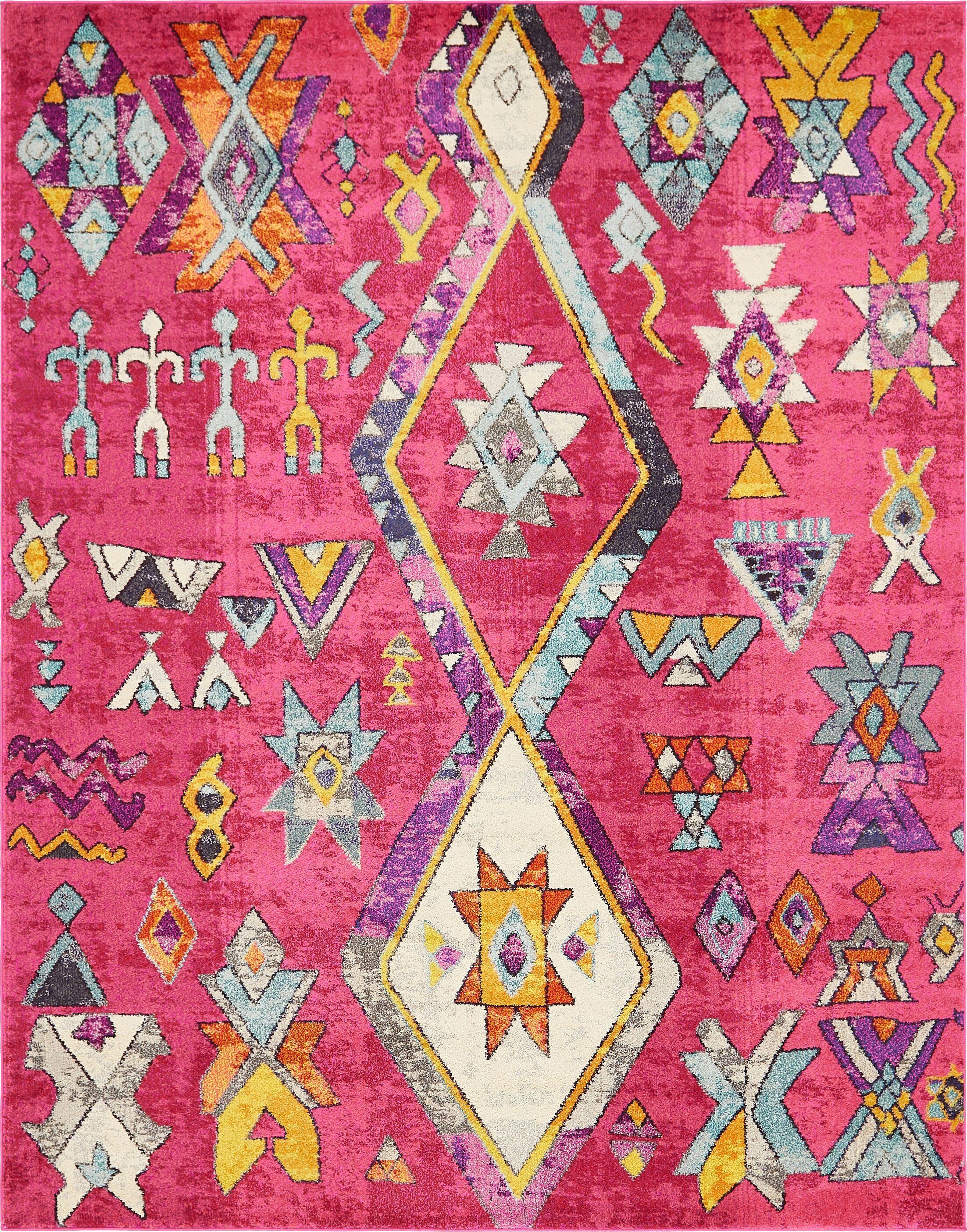 Ariyah Pink Area Rug Rug Size: Rectangle 8' x 10'
