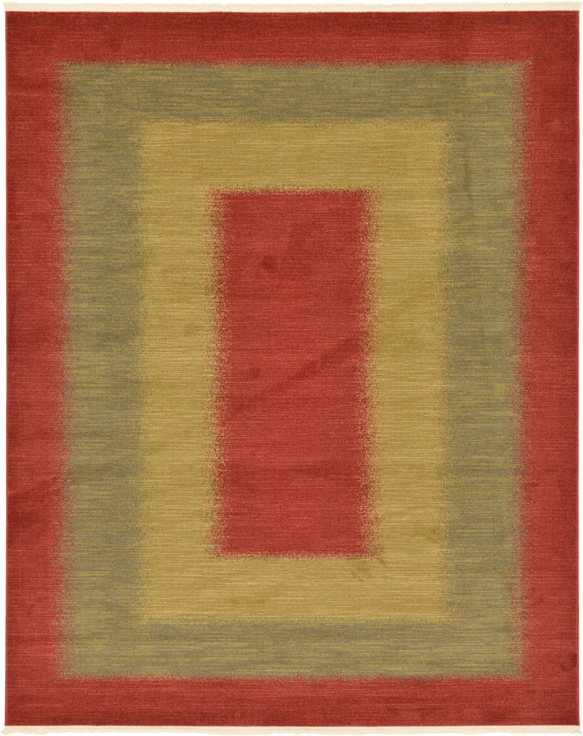 Jan Red Area Rug Rug Size: Rectangle 8' x 10'