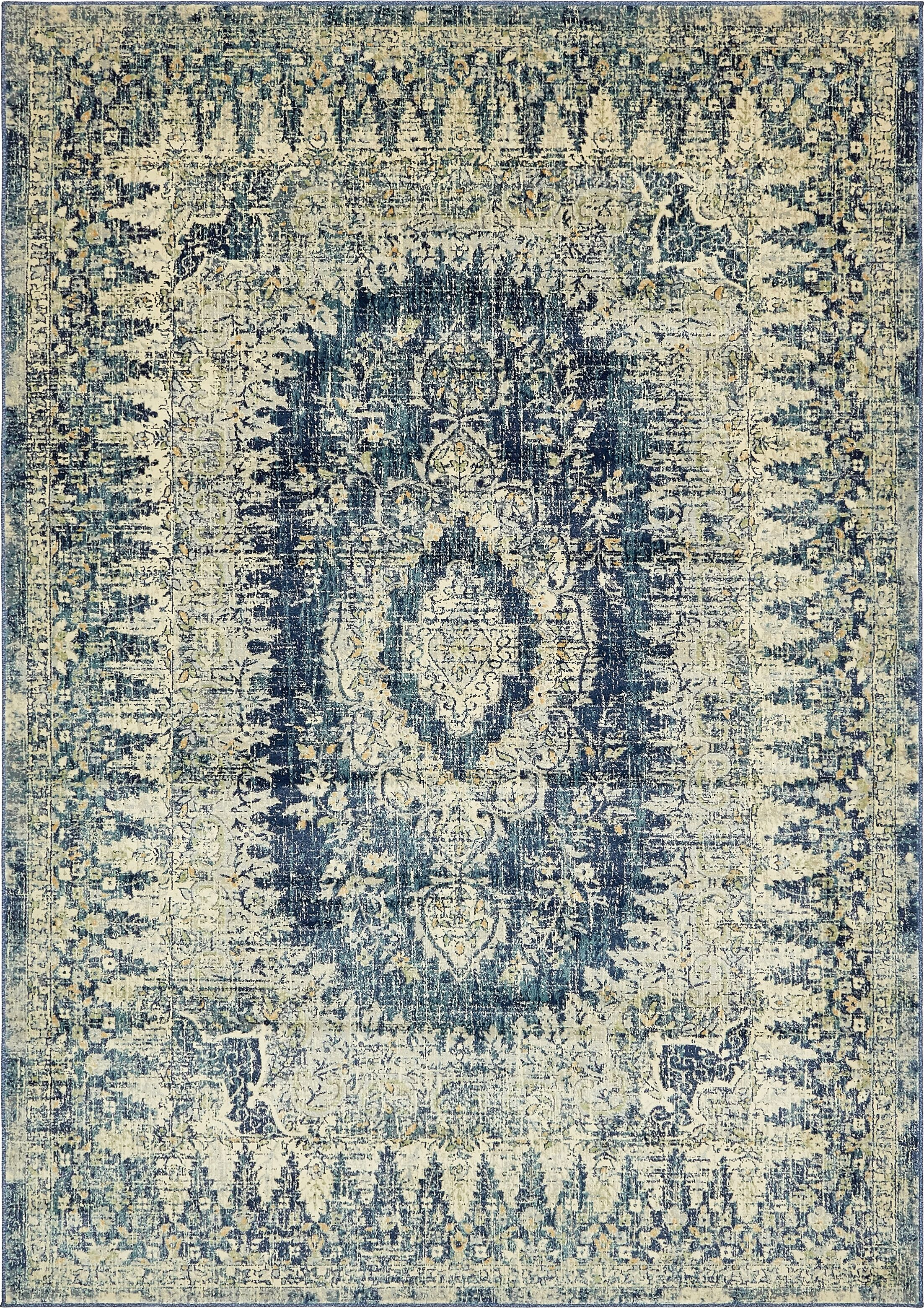 Jae Eclectic Navy Blue Area Rug Rug Size: Rectangle 7' x 10'