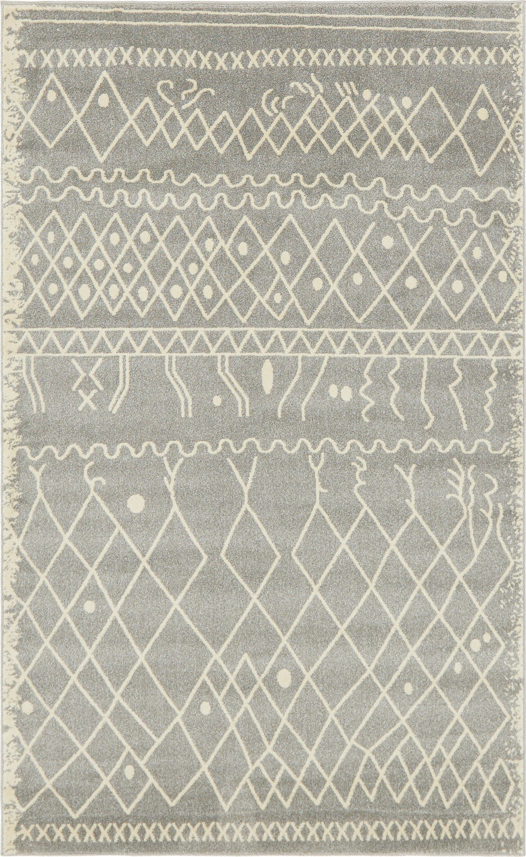 Foxhill Gray Area Rug Rug Size: Rectangle 5' x 8'