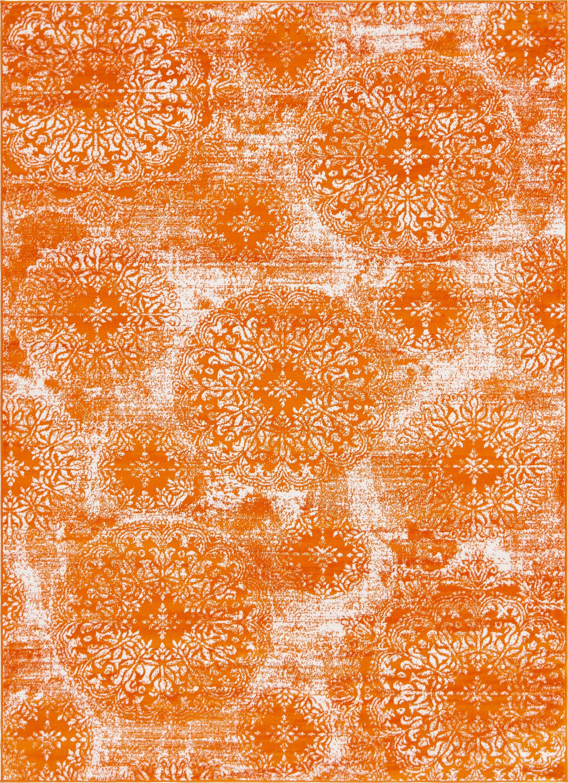 Brandt Orange Area Rug Rug Size: Rectangle 7' x 10'