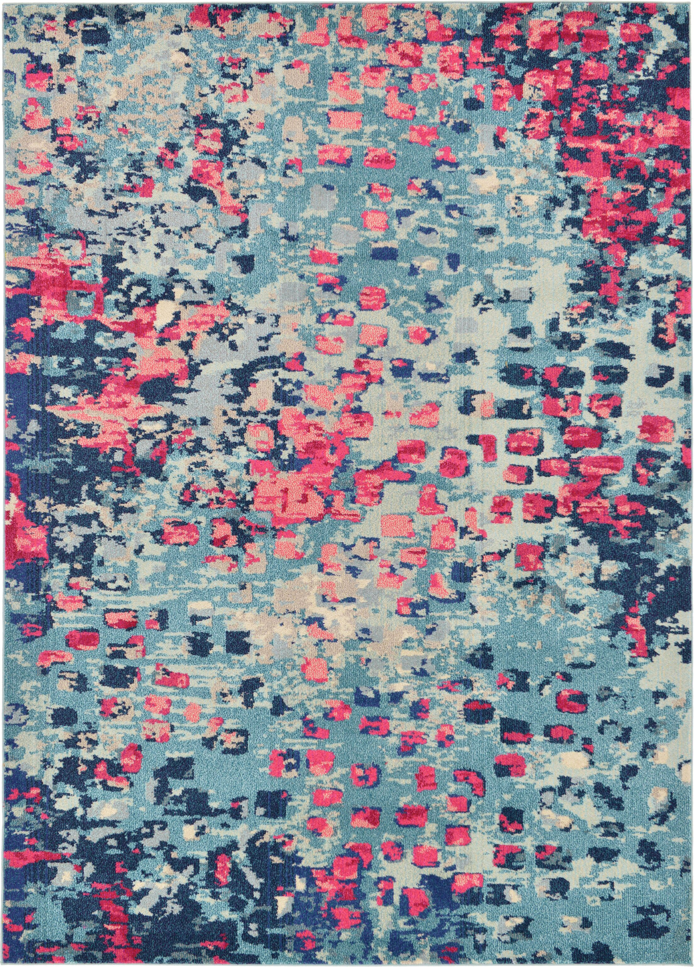 Fujii Blue Area Rug Rug Size: Rectangle 7' x 10'