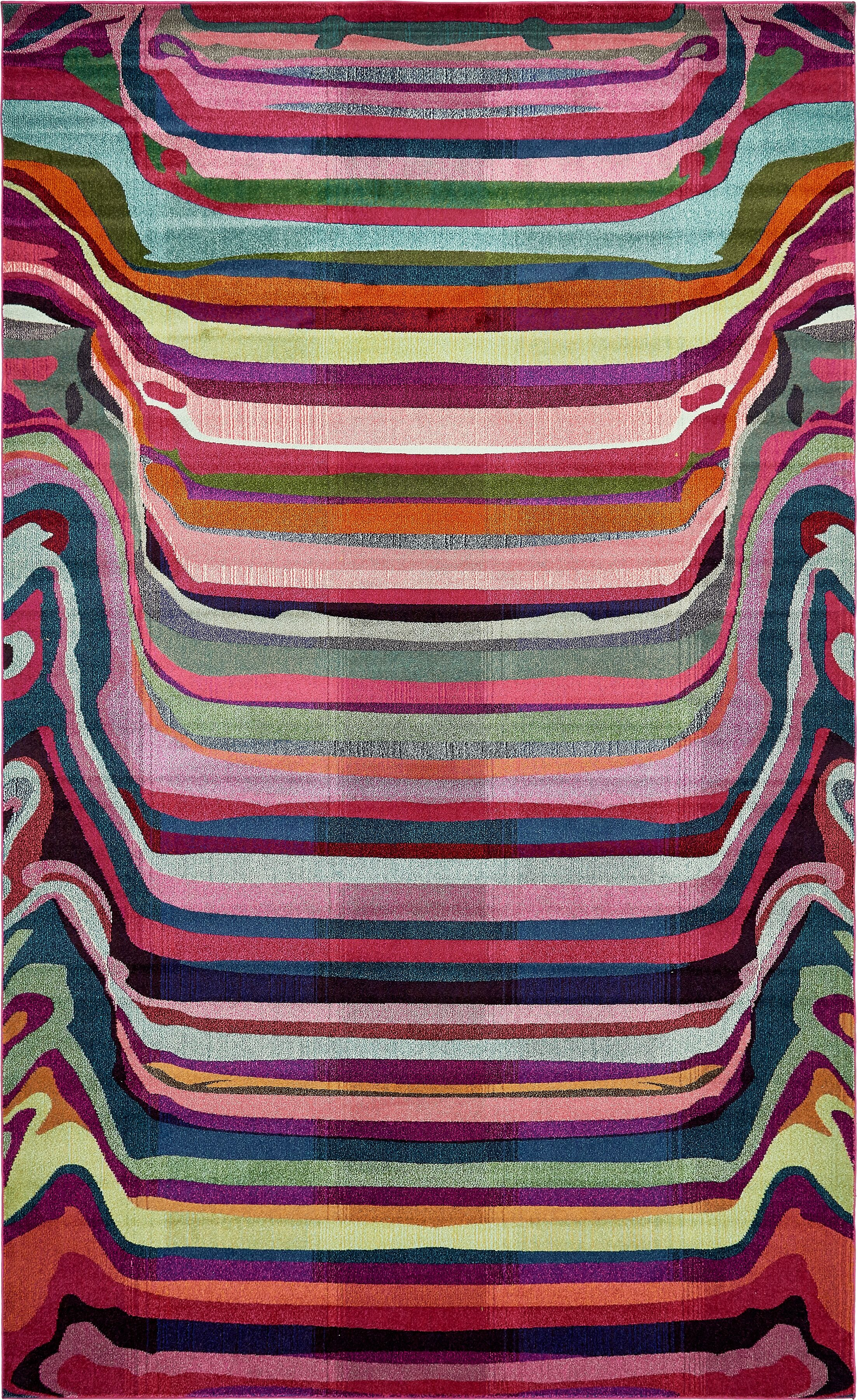 Vigna Purple/Pink Area Rug Rug Size: Rectangle 10' 6