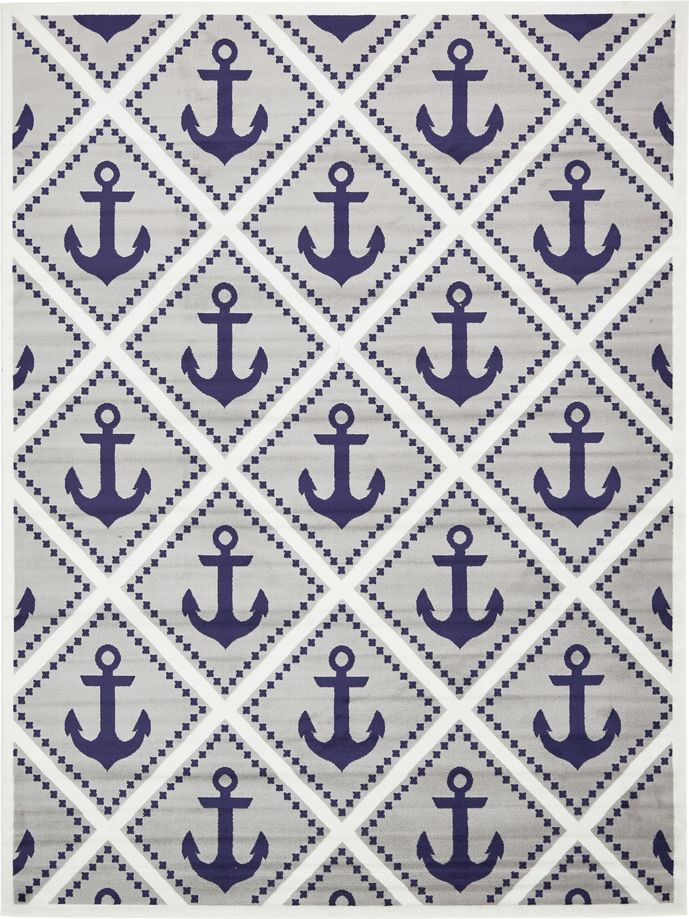 East Boothbay Gray Area Rug Rug Size: Rectangle 9' x 12'