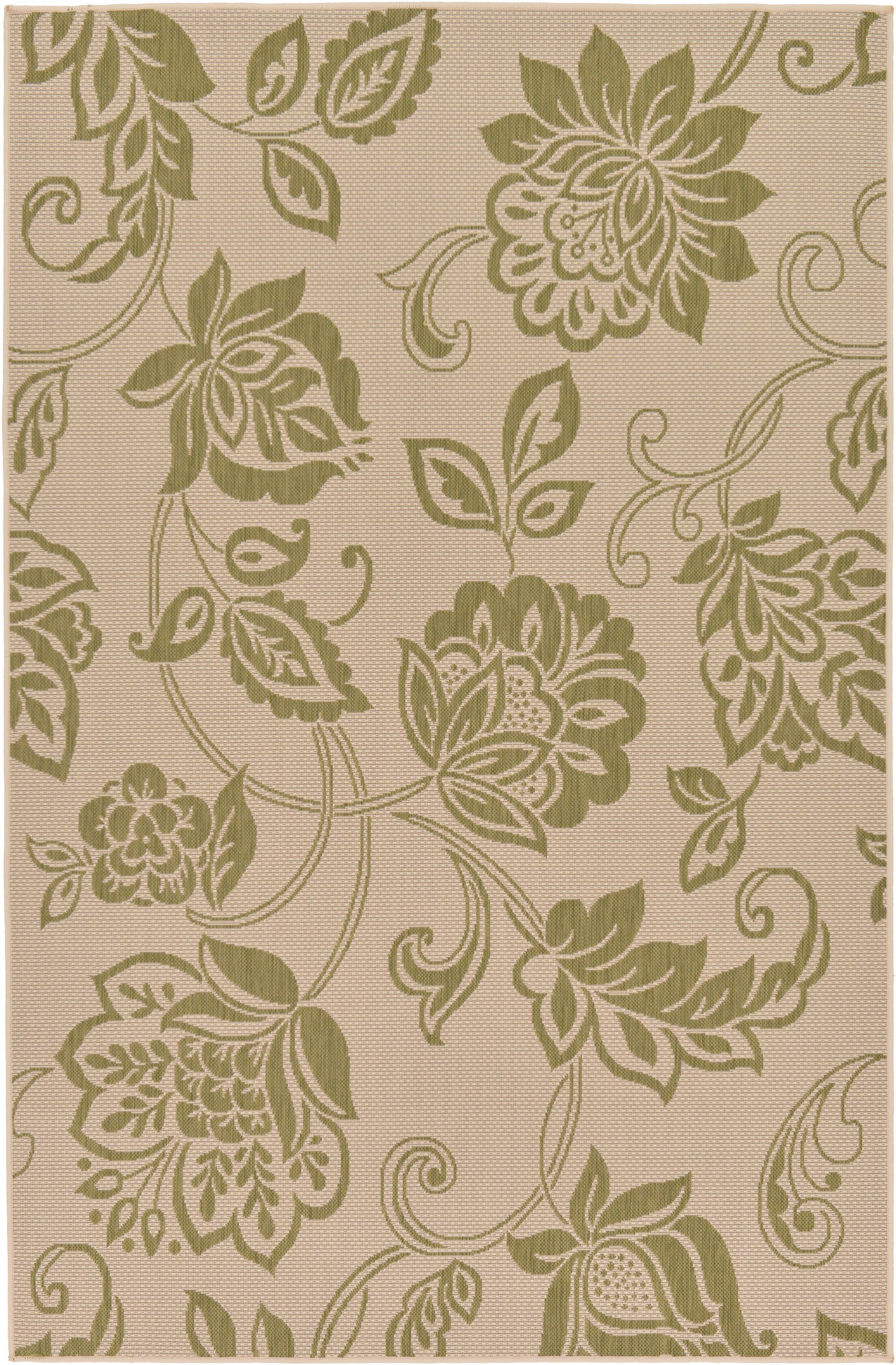 Warlick Light Green Outdoor Area Rug Rug Size: Rectangle 5' x 7'10