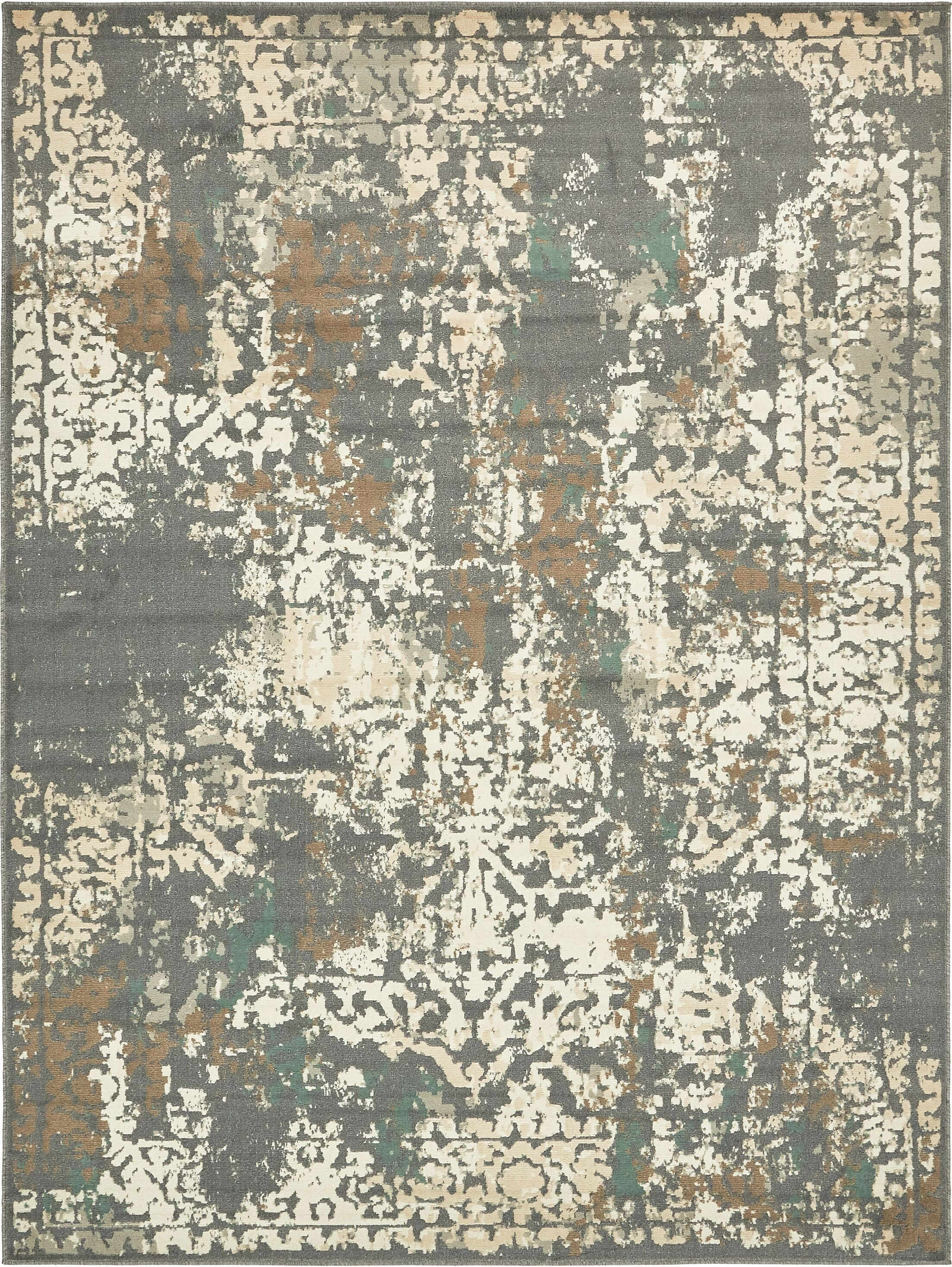 Forcalquier Gray Indoor Area Rug Rug Size: Rectangle 9' x 12'