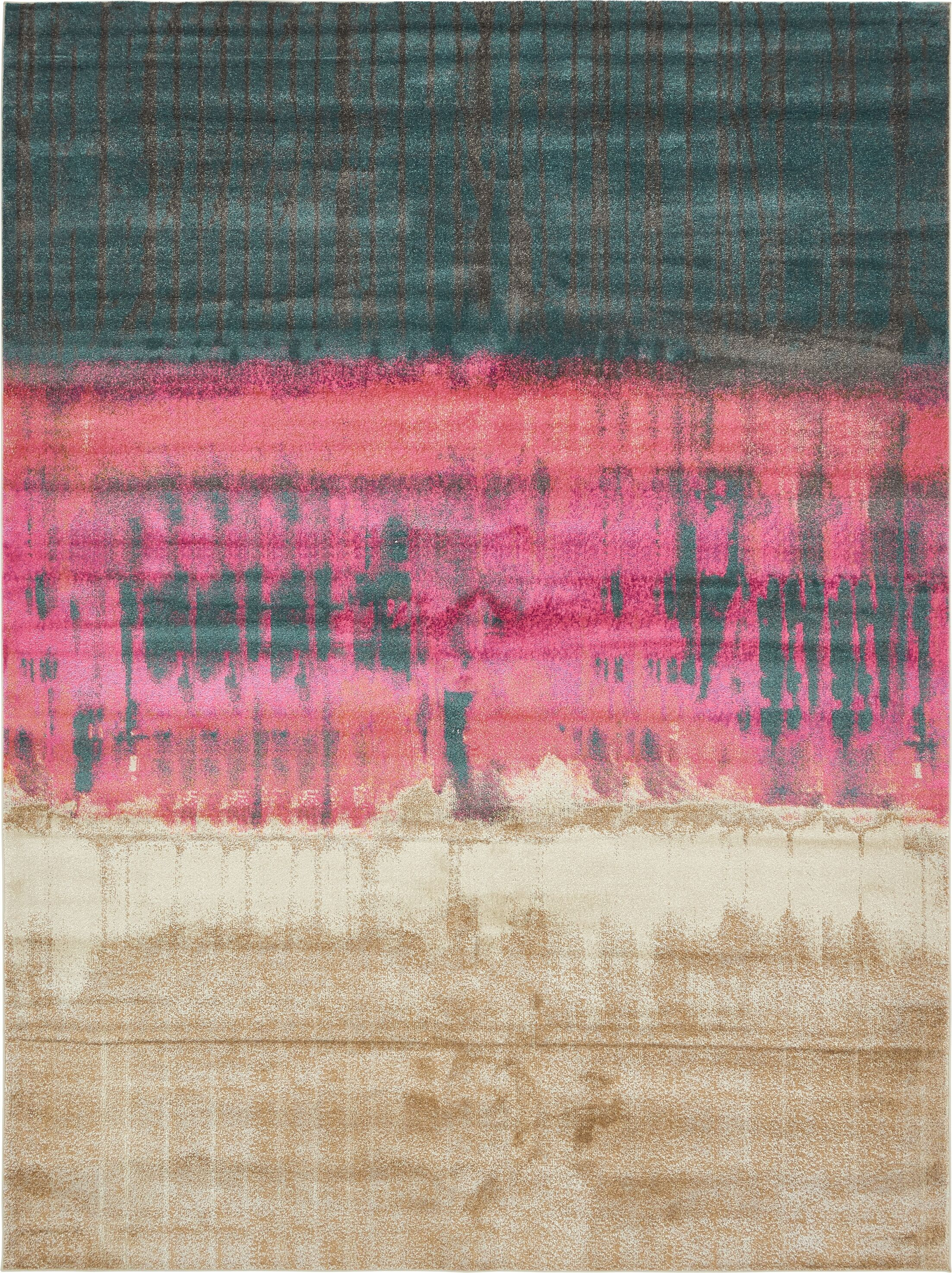 Coakley Traditional Pink Area Rug Rug Size: Rectangle 10' x 13'