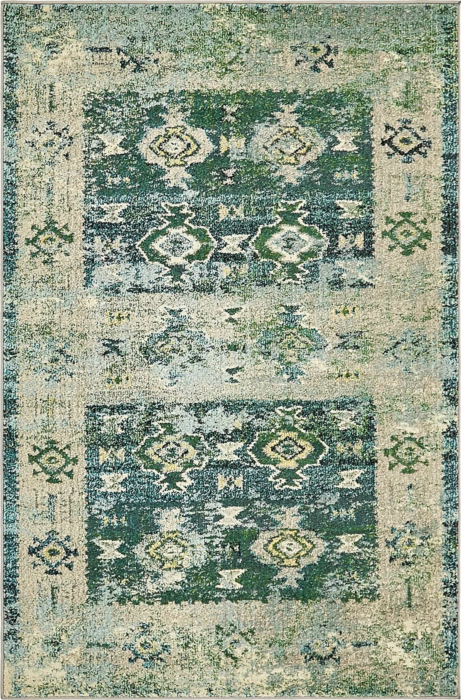 Piland Green Area Rug Rug Size: Rectangle 4' x 6'
