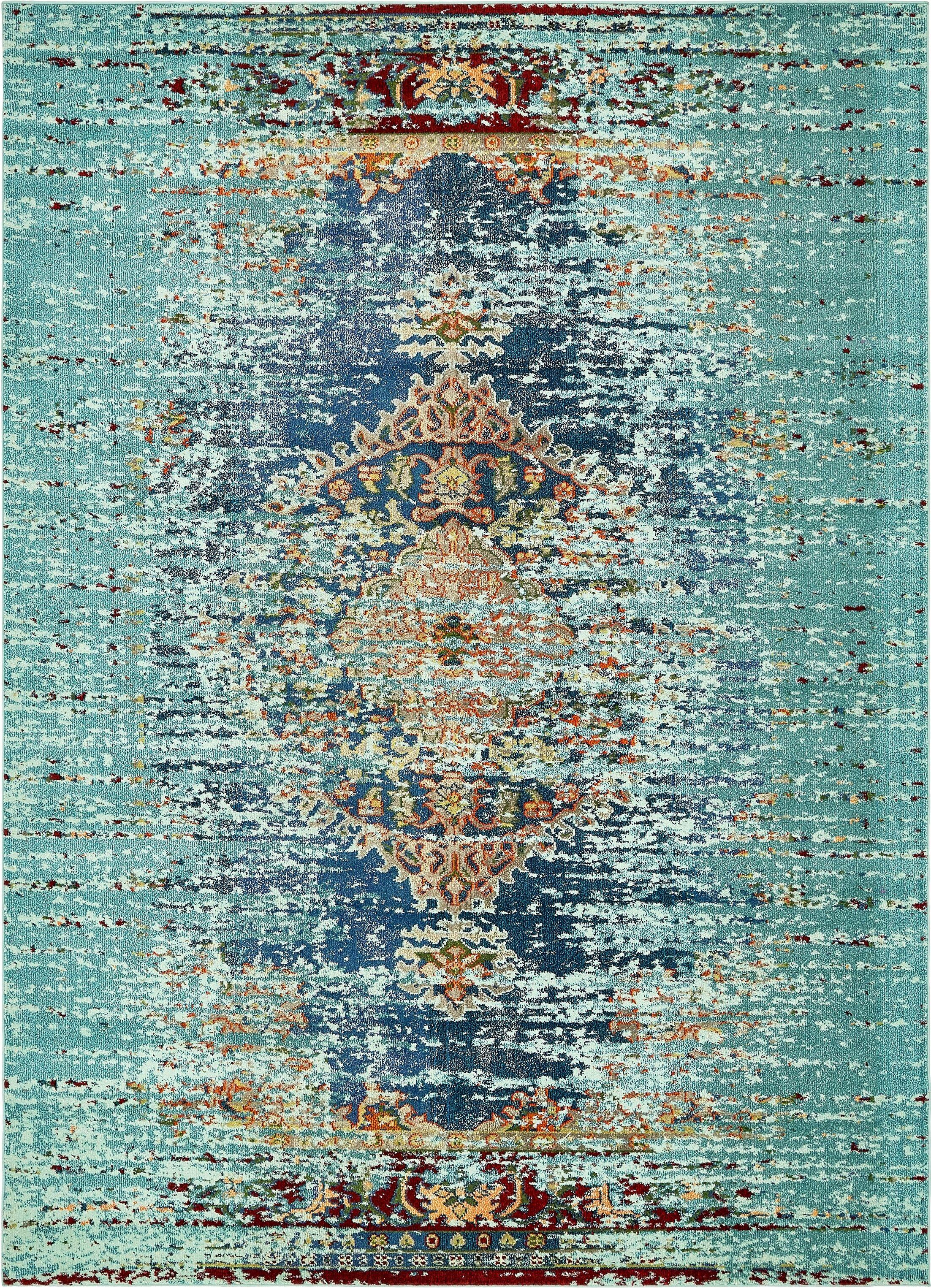 Glenn Blue Area Rug Rug Size: Rectangle 9' x 12'