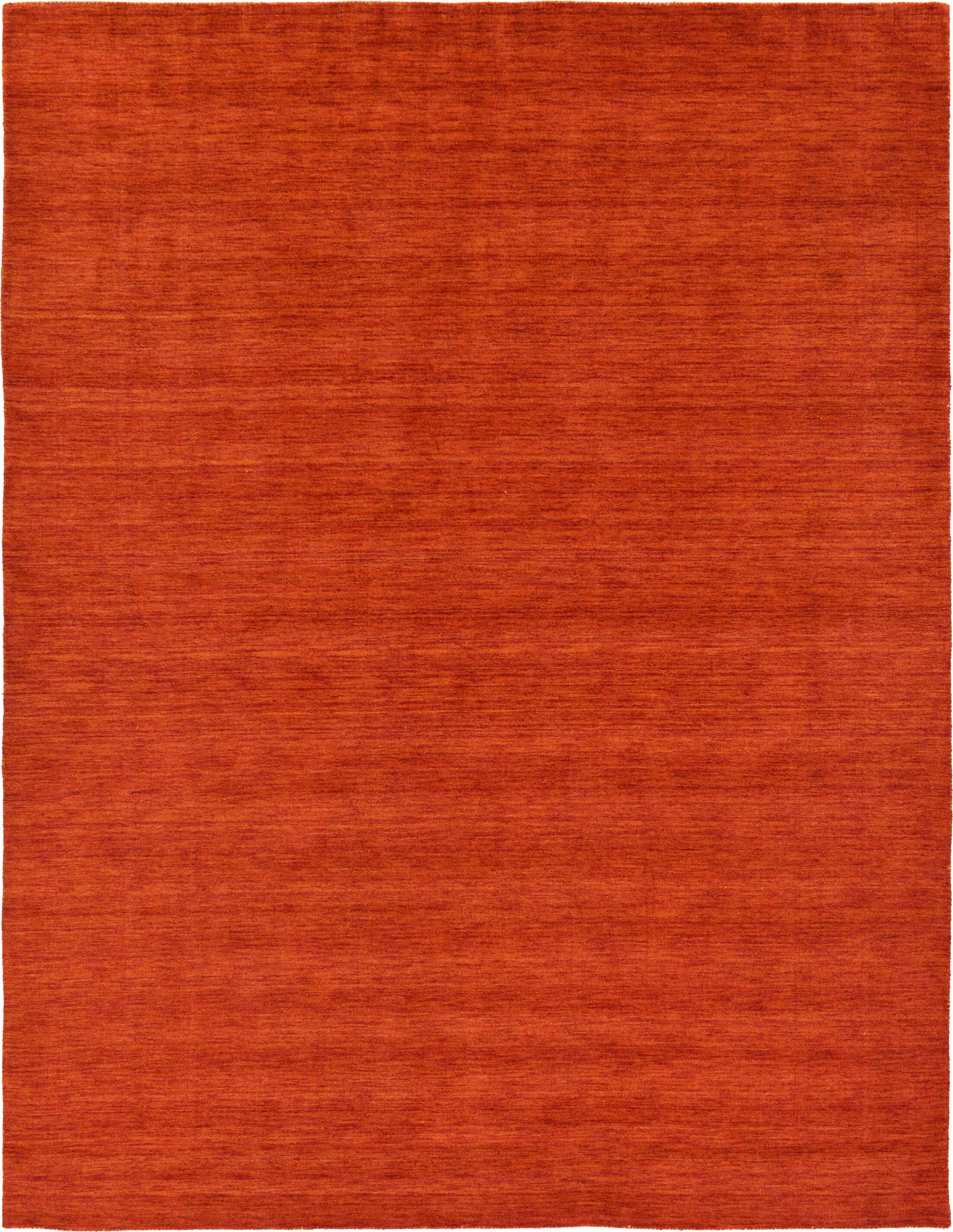Taul Hand-Knotted Wool Red Area Rug Rug Size: 9' 10 x 13'