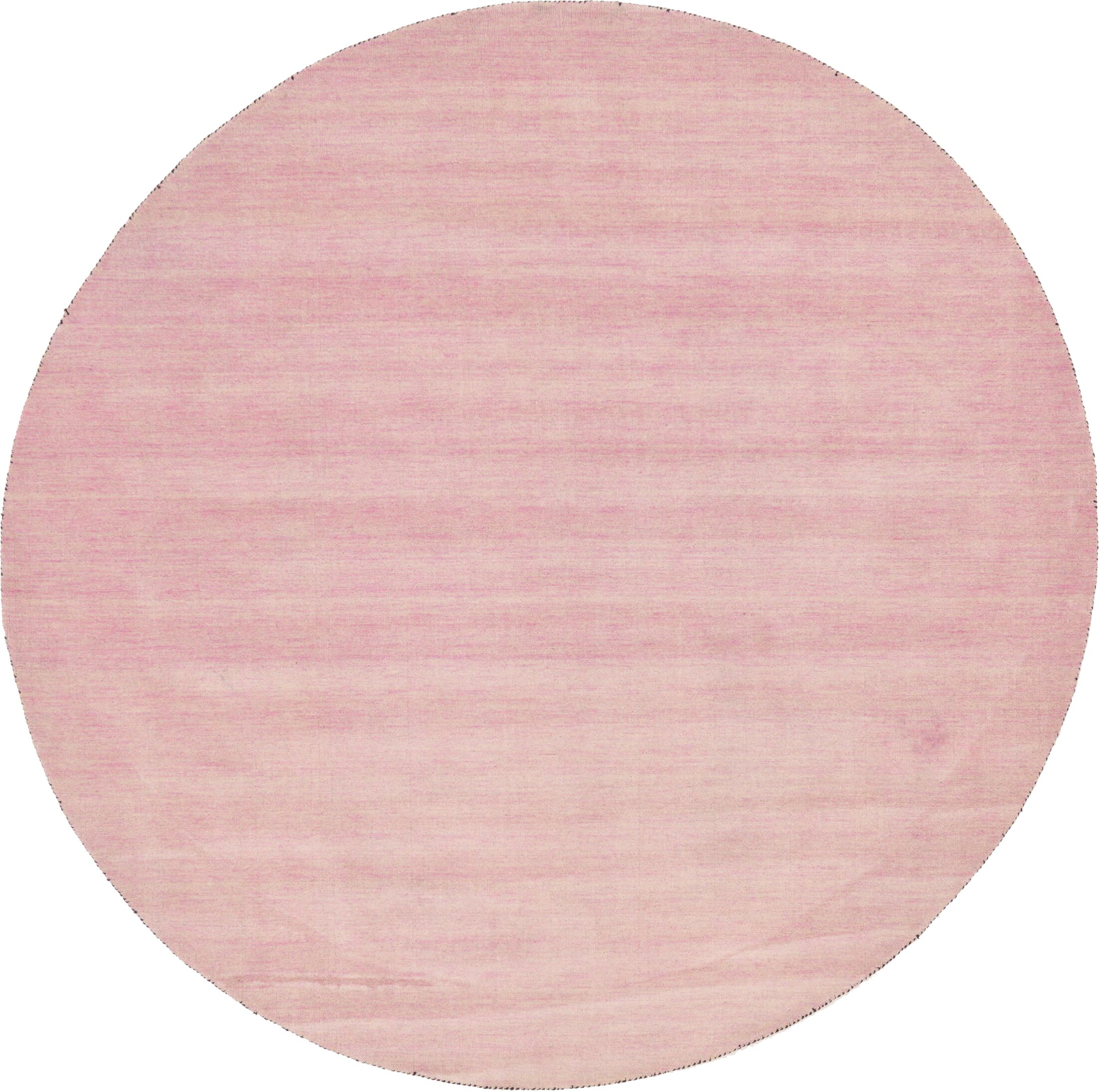 Taul Hand-Knotted Wool Pink Area Rug Rug Size: Round 9' 10