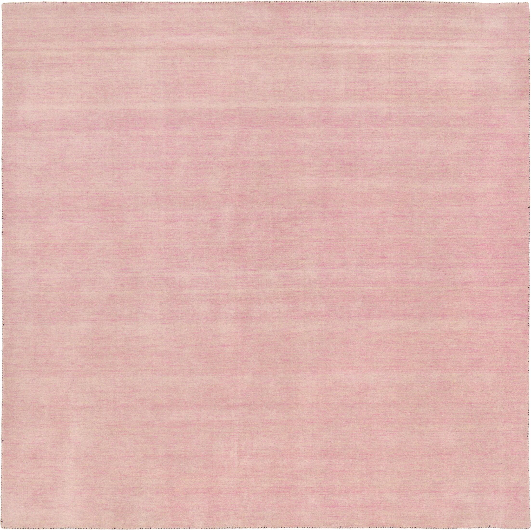 Taul Hand-Knotted Wool Pink Area Rug Rug Size: Square 9' 10