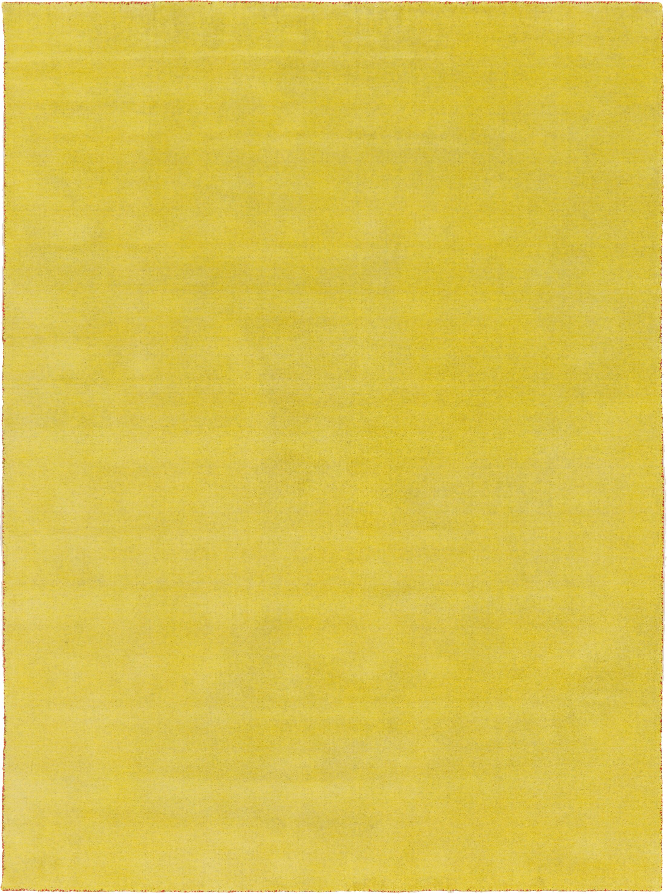 Taul Hand-Knotted Wool Yellow Area Rug Rug Size: 8' 2 x 11' 6