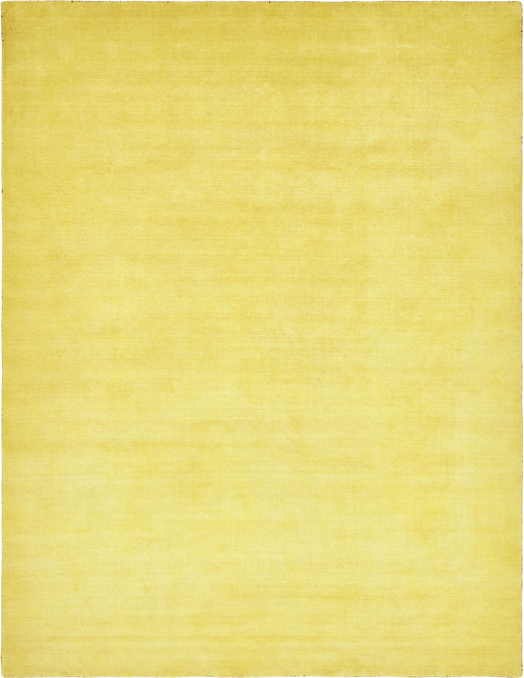 Taul Hand-Knotted Wool Yellow Area Rug Rug Size: 9' 10 x 13' 1