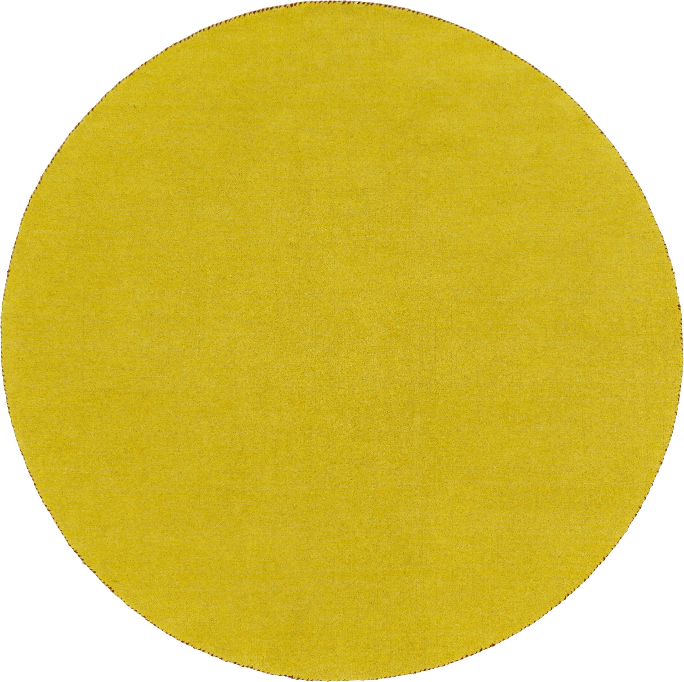 Taul Hand-Knotted Wool Yellow Area Rug Rug Size: 6' 7 x 6' 7