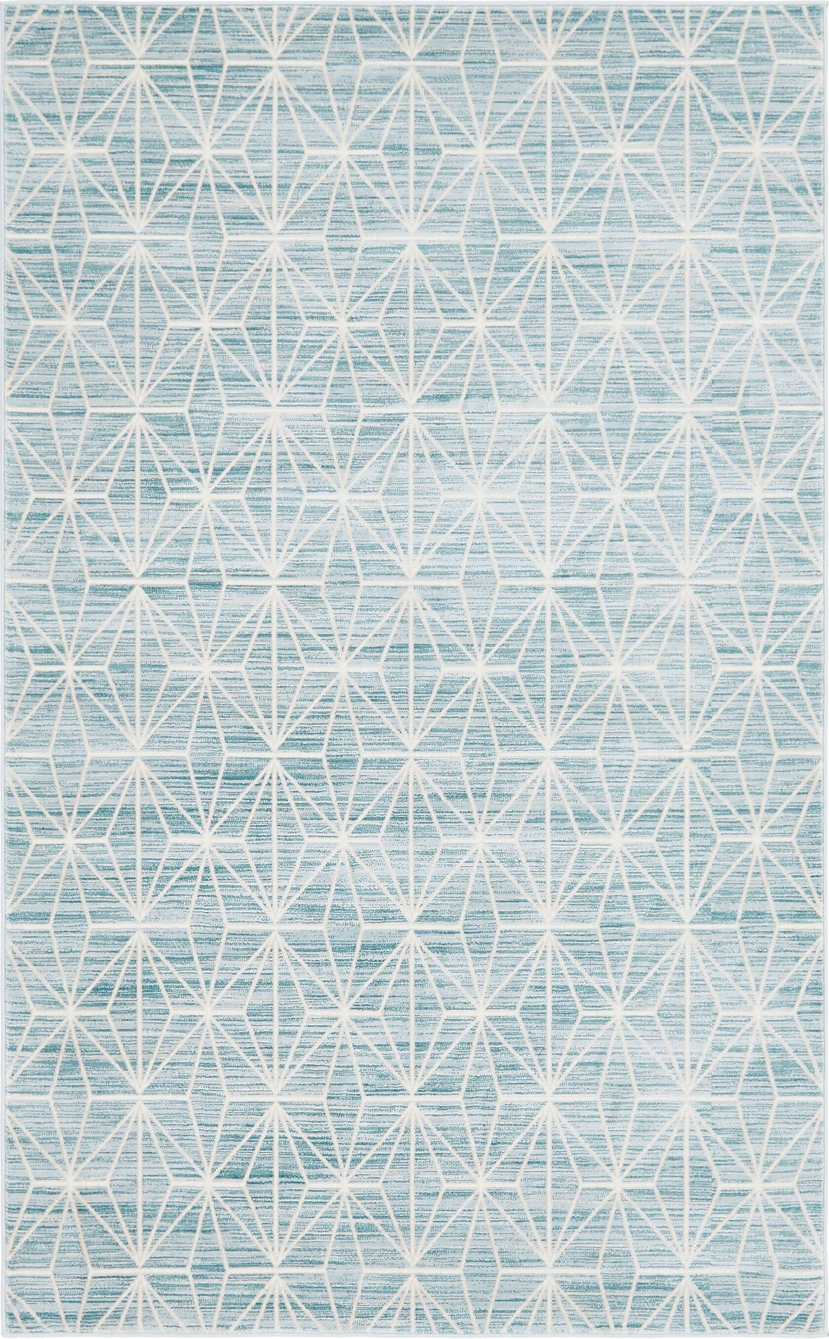 Uptown Fifth Avenue Blue Area Rug Rug Size: Rectangle 5' x 8'